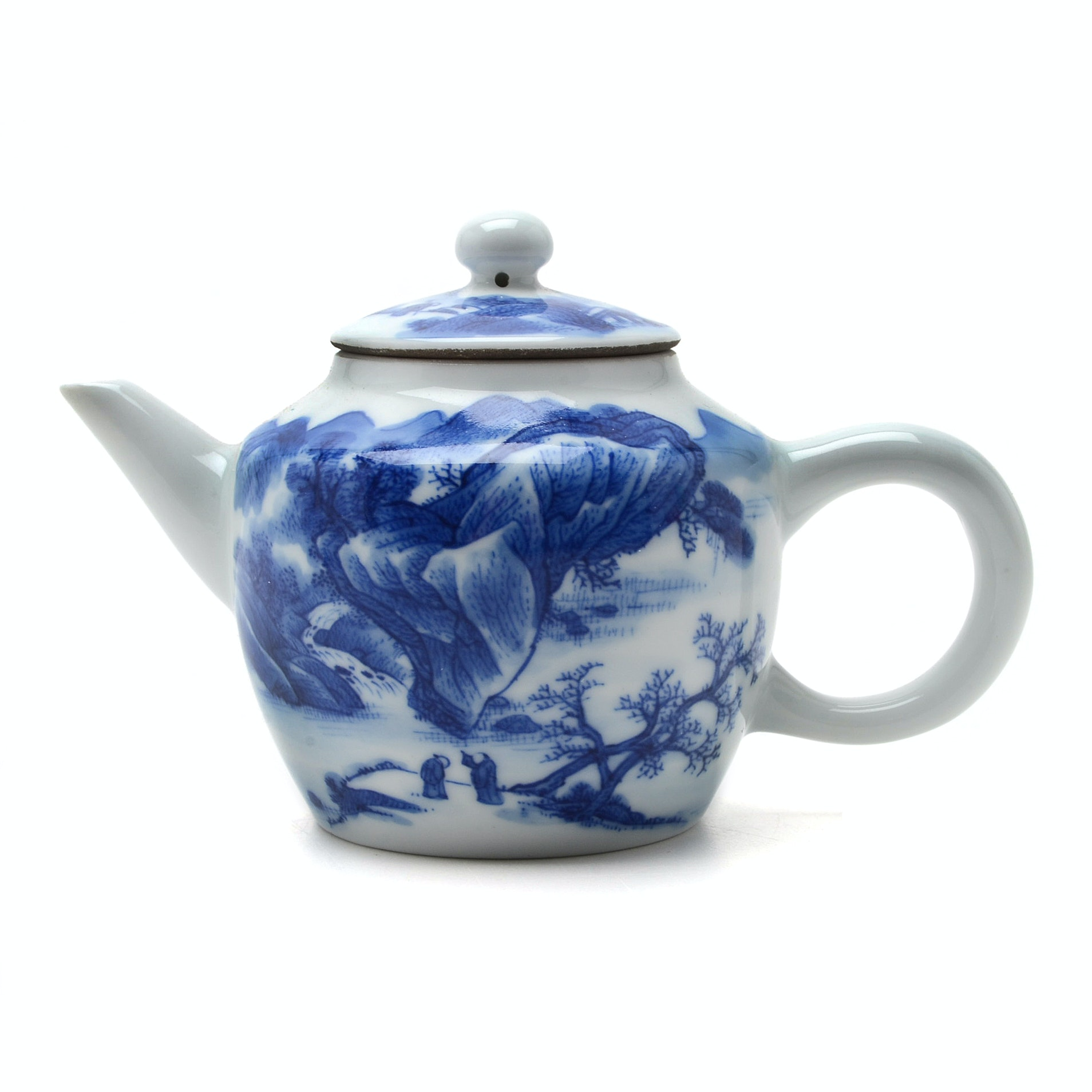 Antique Chinese Miniature Blue and White Porcelain Teapot