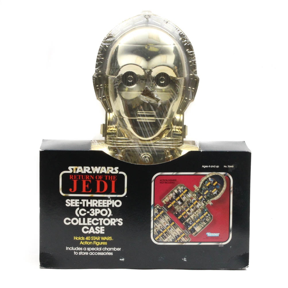 "Vintage ""Star War Return of the Jedi"" See-Threepio C-3PO Collectors Case"