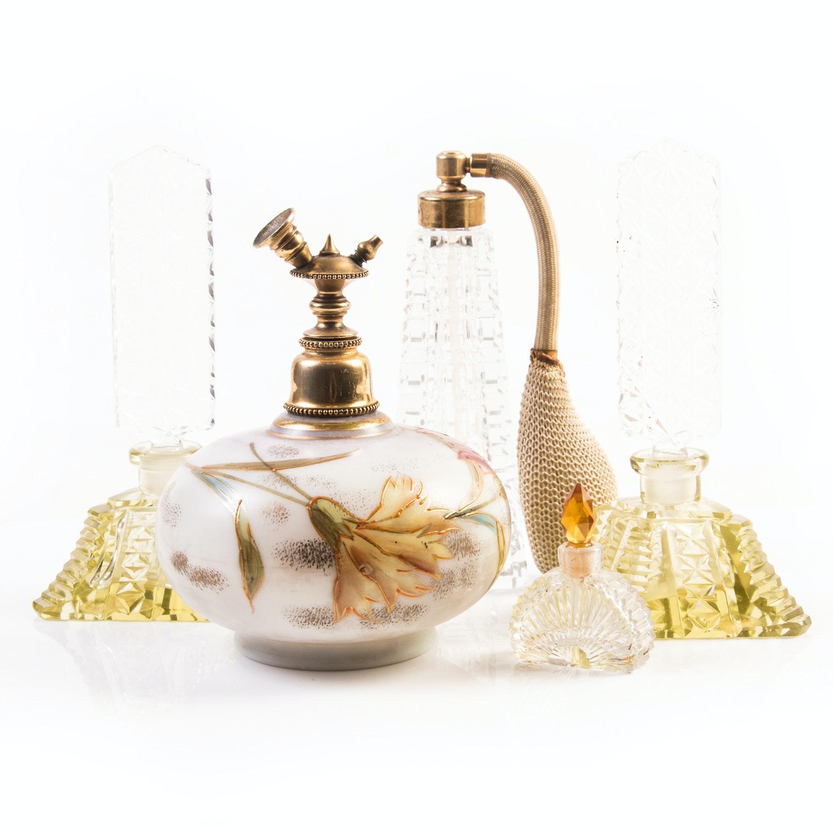 Vintage Perfume Bottles featuring Morlee Crystal