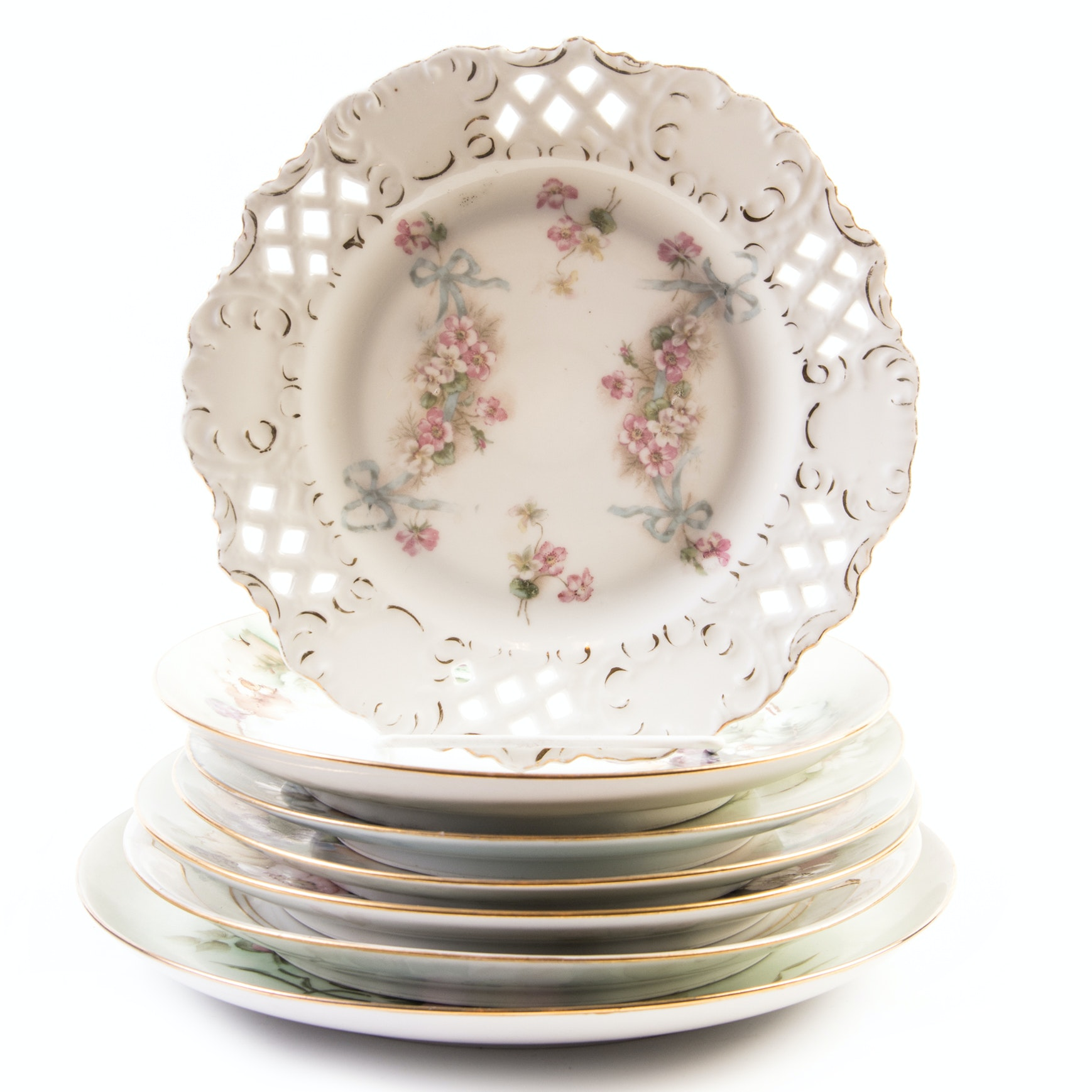 Decorative Hand Painted Porcelain Plates