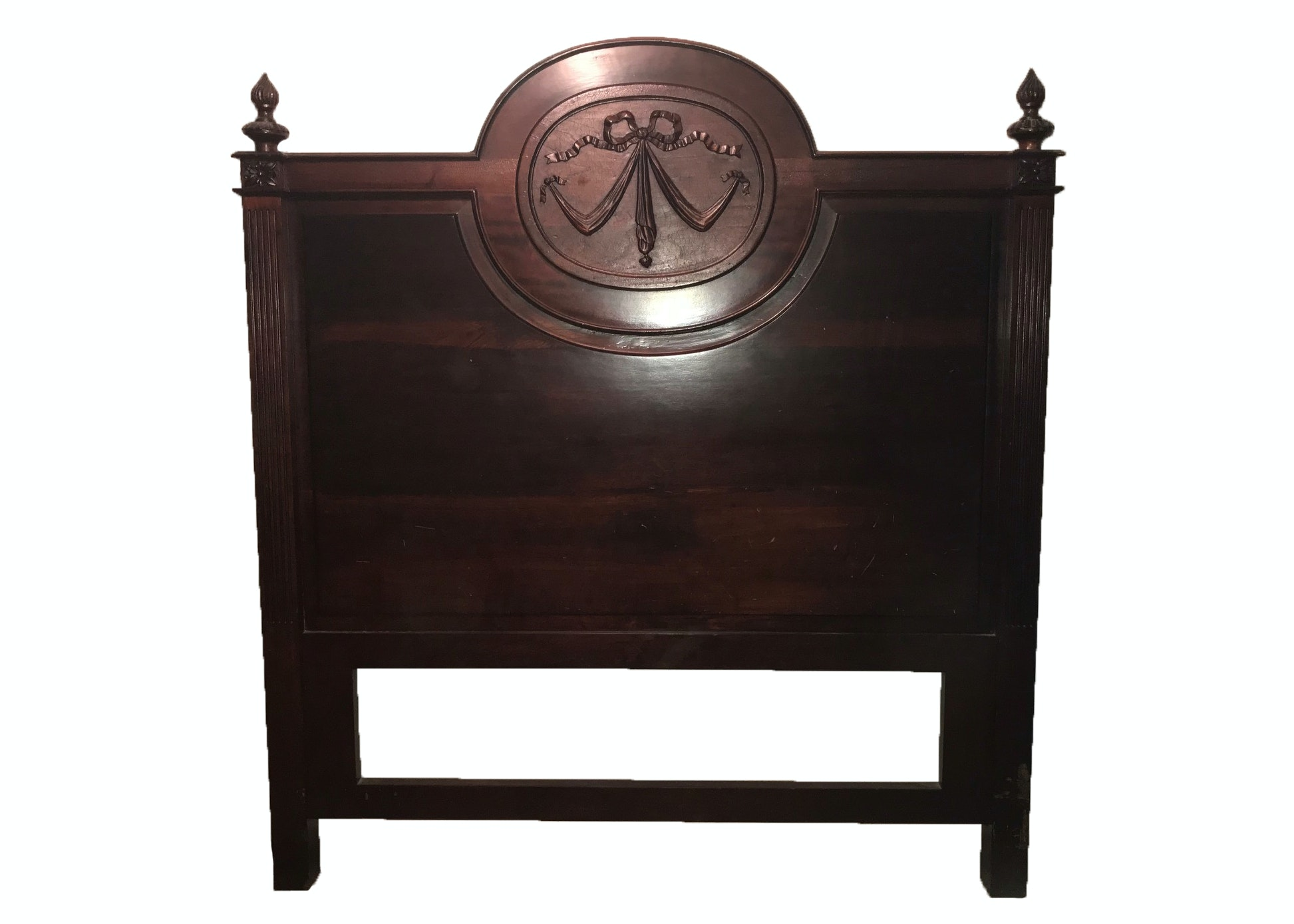 French Carved Mahogany Queen Size Headboard