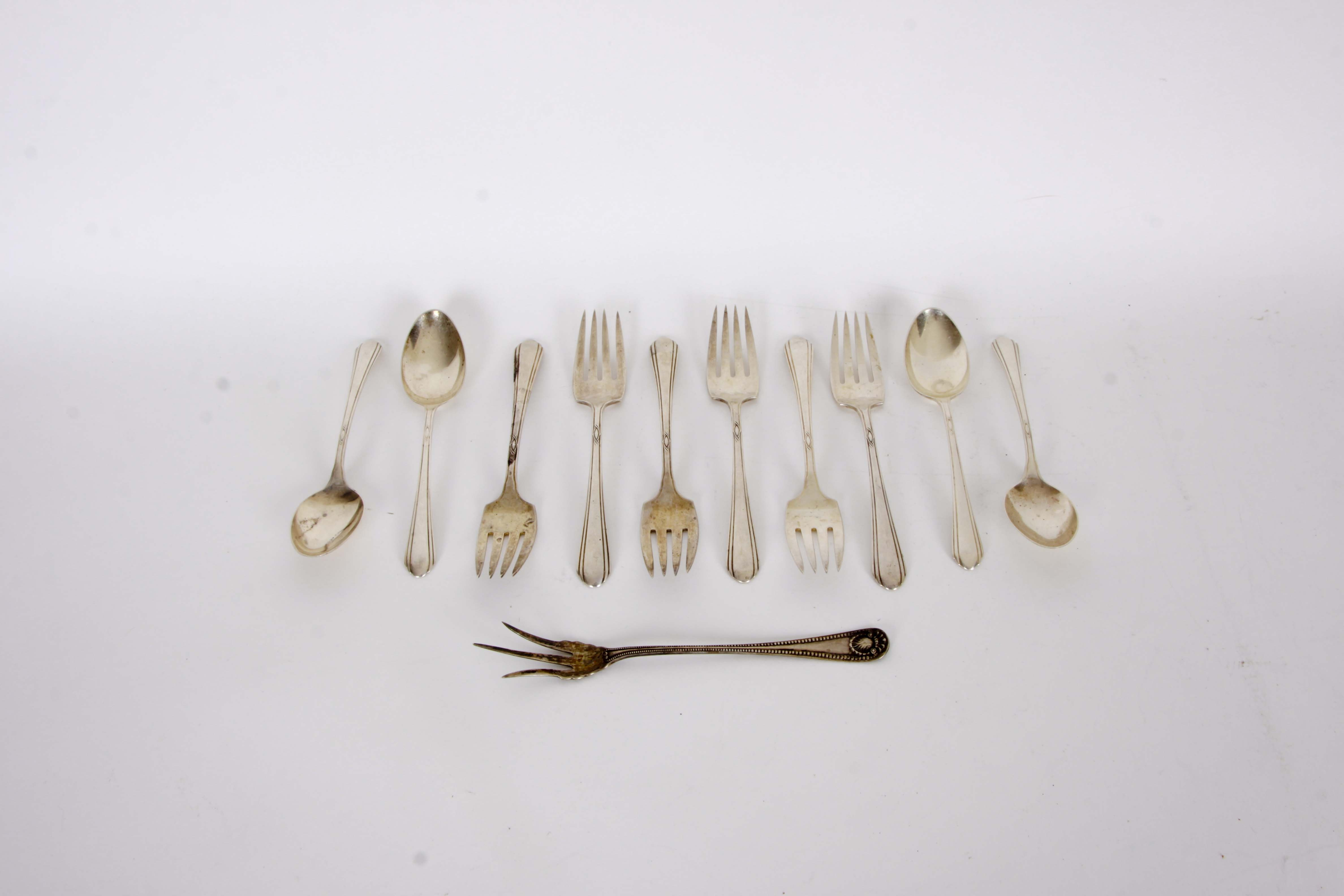 "Towle Sterling ""Lady Diana"" Flatware and a Whiting ""Bead"" Lettuce Fork"