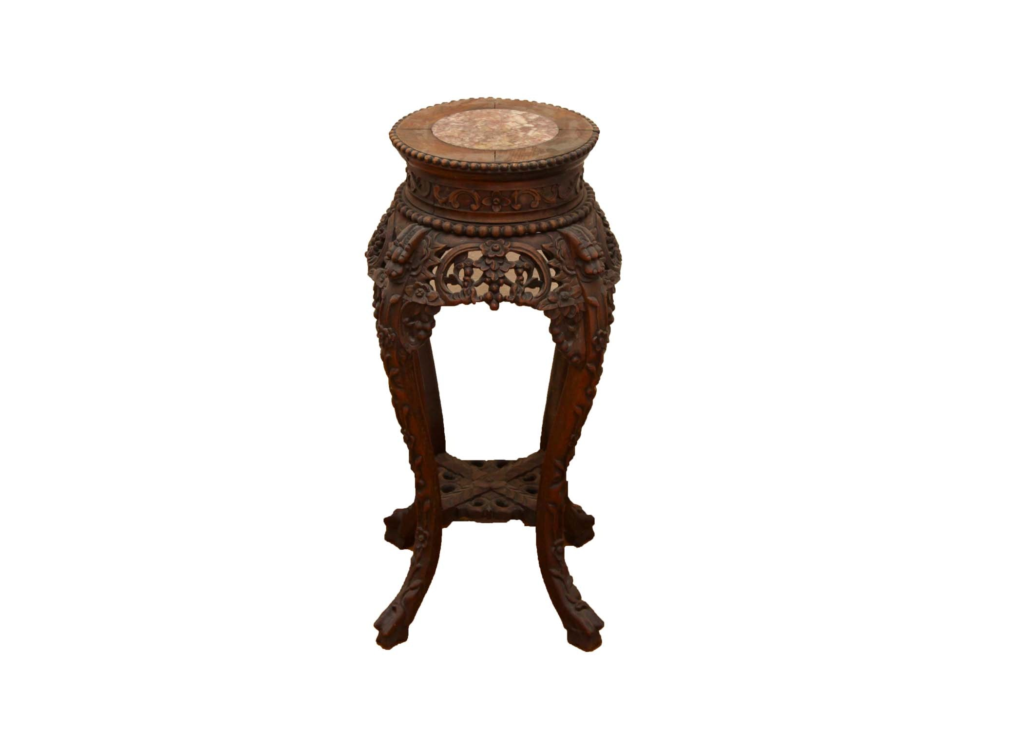 Chinese Carved Plant Stand