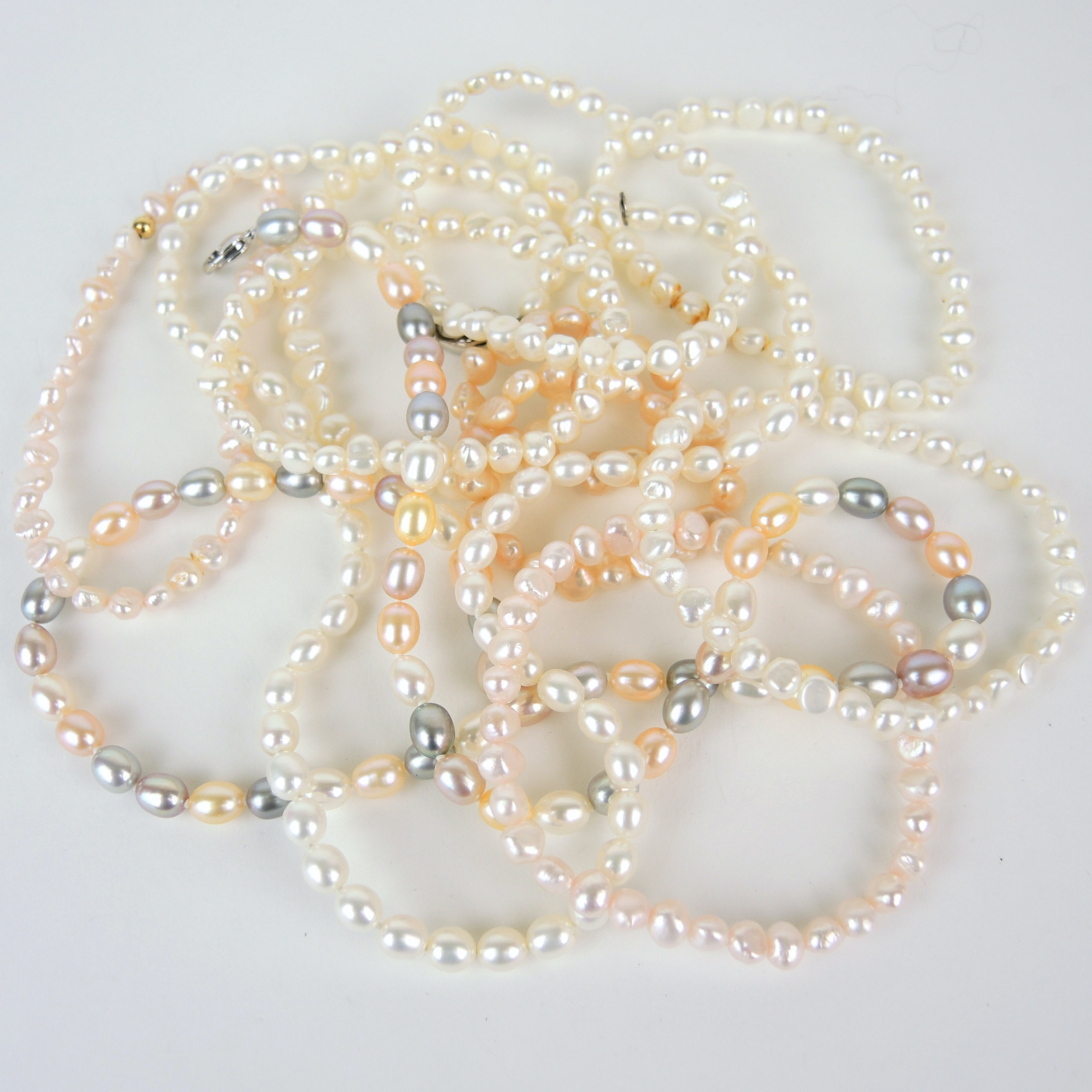 Sterling Freshwater Pearl Necklaces and Bracelets