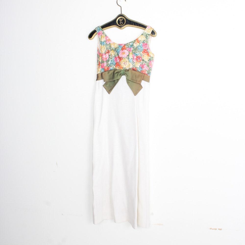 Brocade, Satin and Beaded Dresses