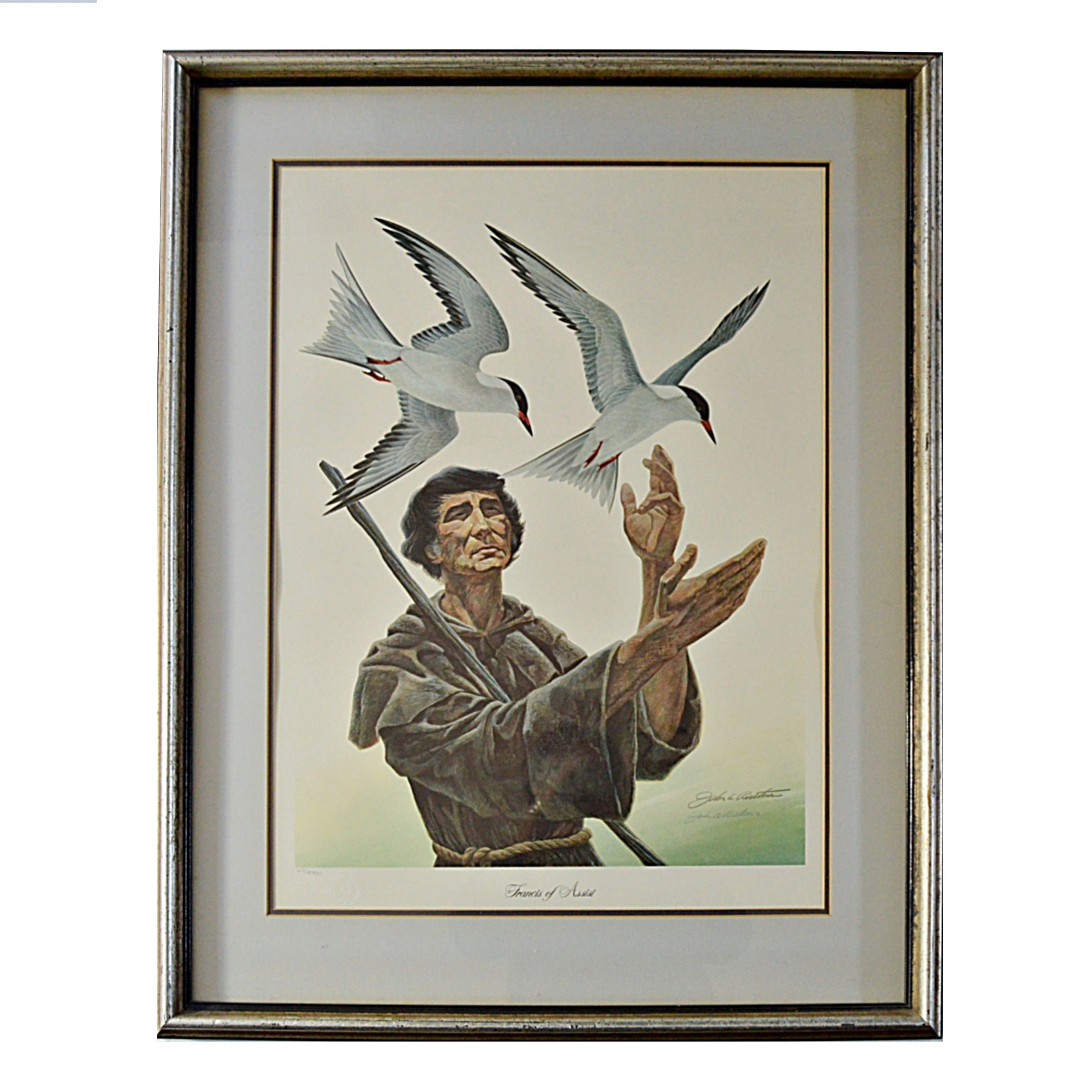 """John Ruthven Signed Limited Edition Offset Lithograph """"St.Francis of Assisi"""""""