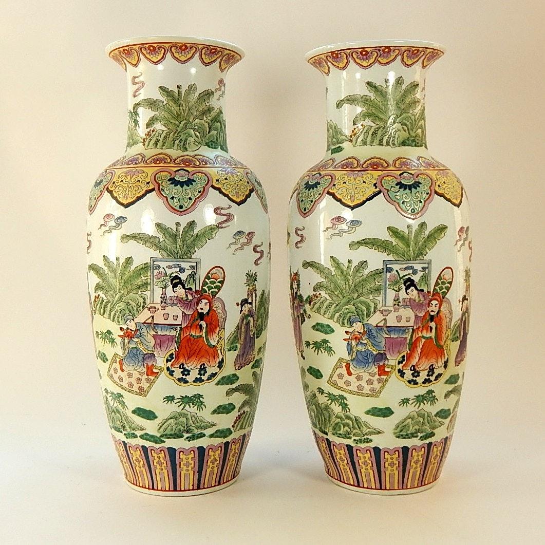 Two Satsuma Matching Vases
