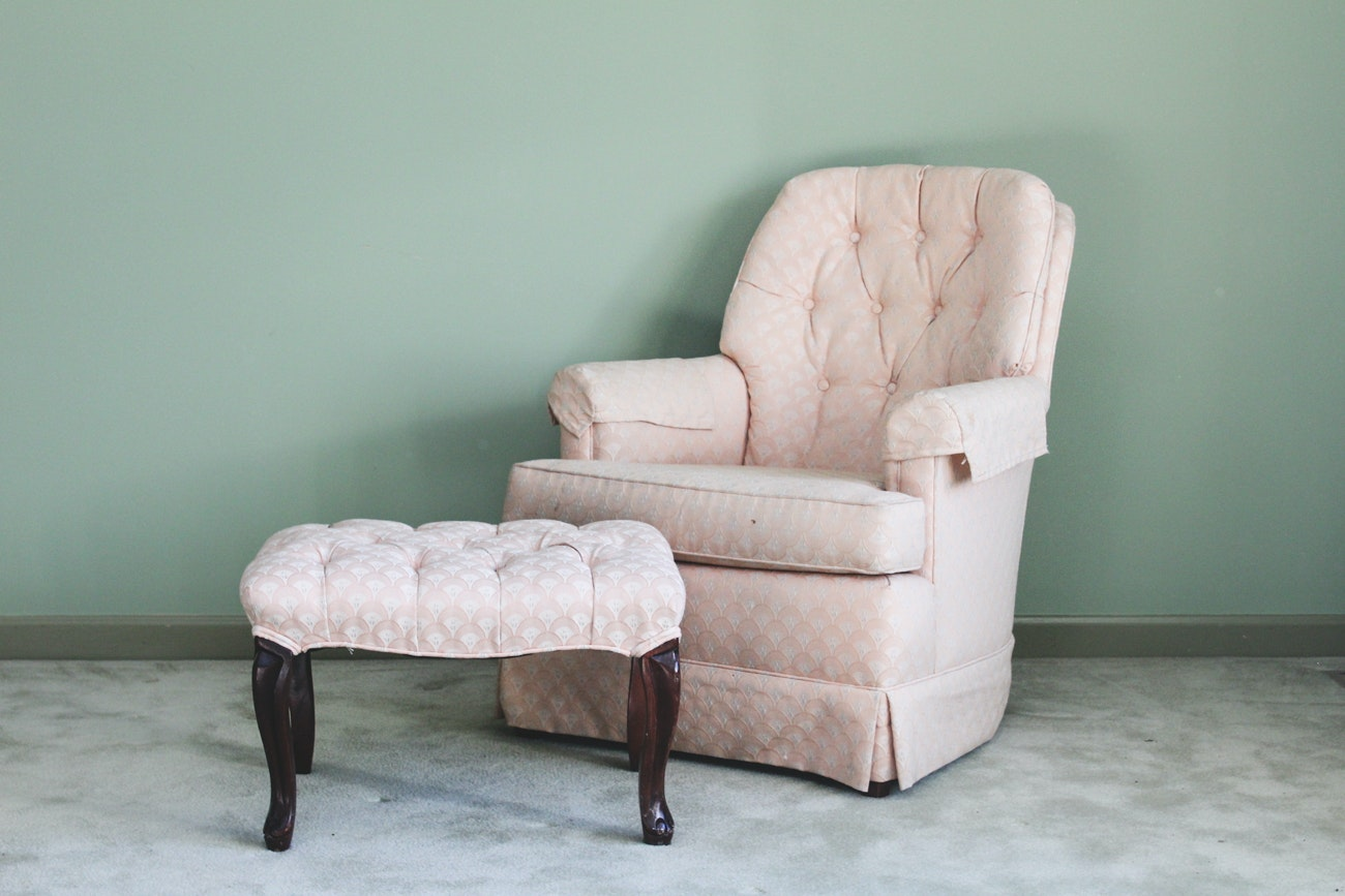 Conover Chair Co. Upholstered Chair And Ottoman ...