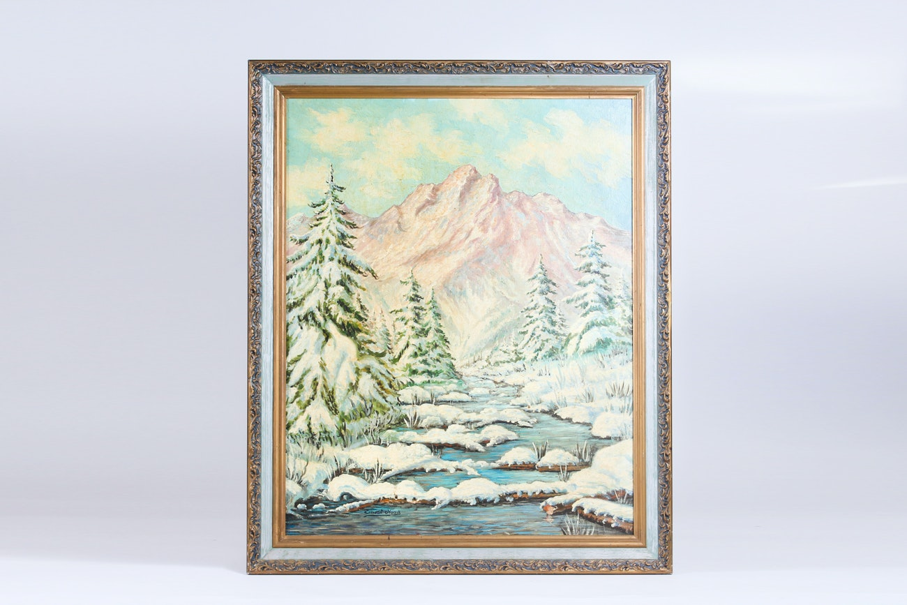 Original Ernest Noack Oil on Canvas Painting