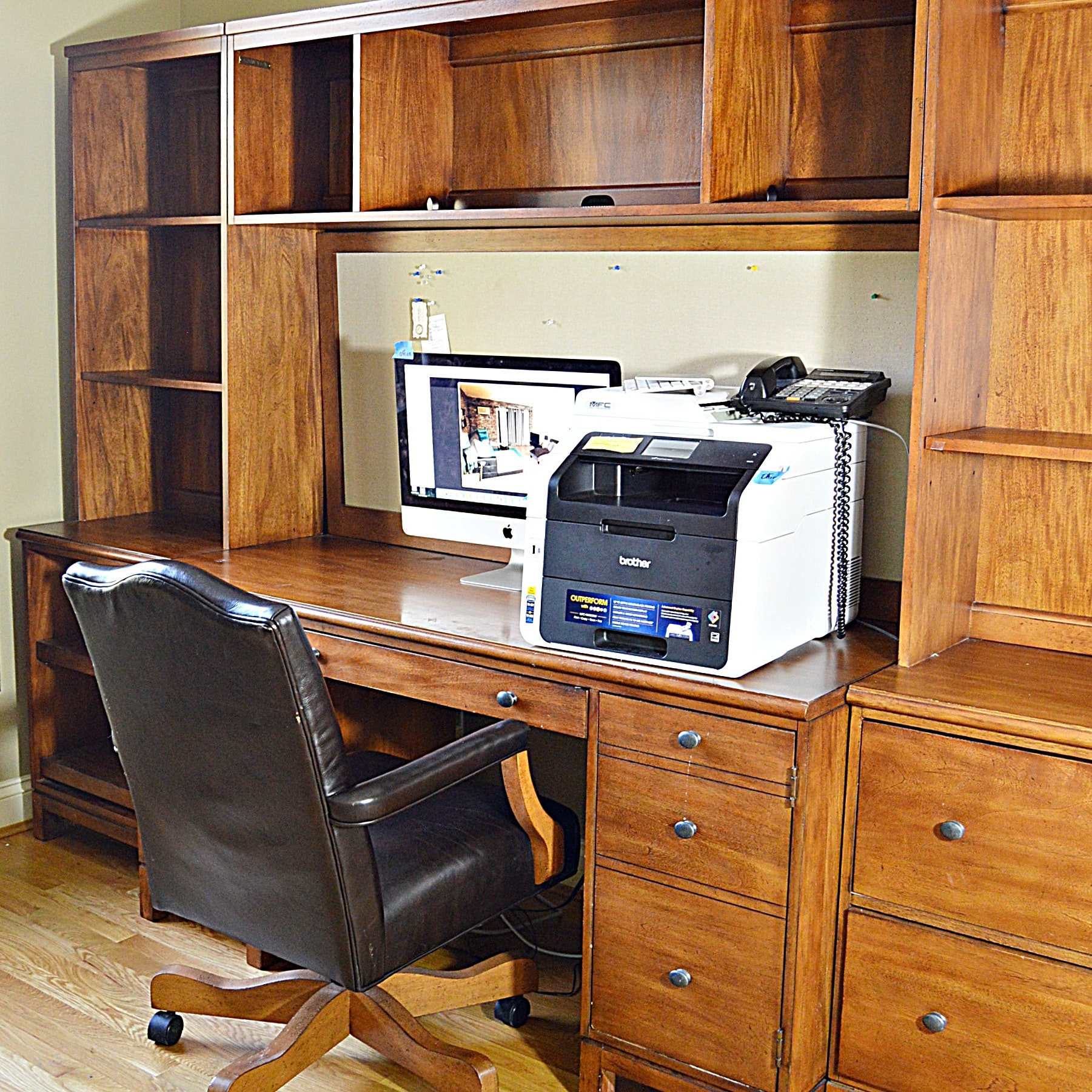 Ethan Allen Home Office And Leather Desk Chair ...