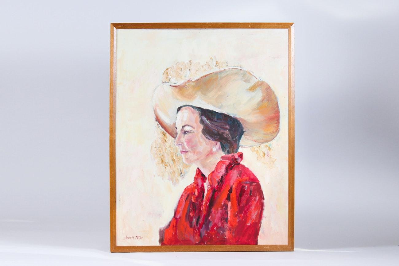 Original Ardath Miller Acrylic on Canvas Board Painting