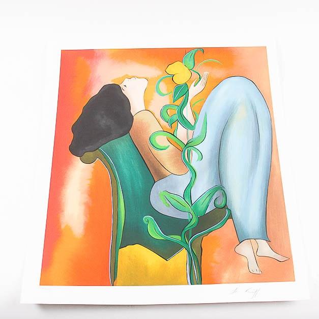 "Serigraph by Linda Le Kinff ""Recreation II"""