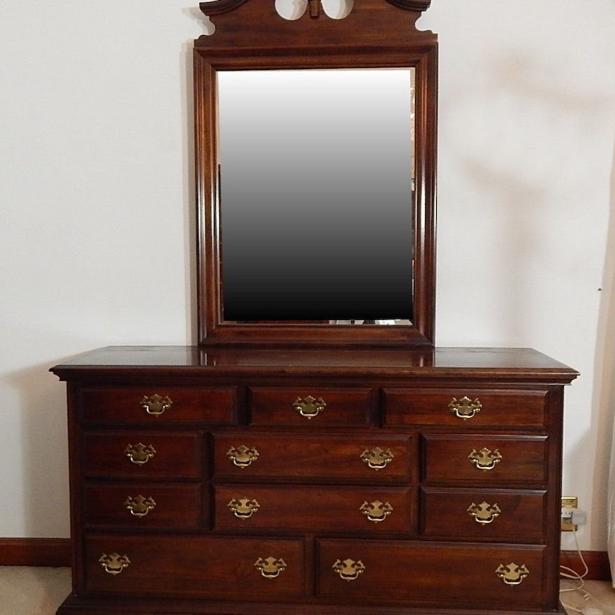 Kincaid Solid Cherry Dresser With Mirror Ebth