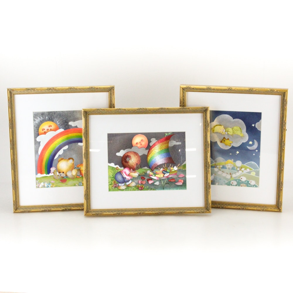 """Dufex Prints on Embossed Foil """"Fuzzy Wuzzy Happy Bears"""""""