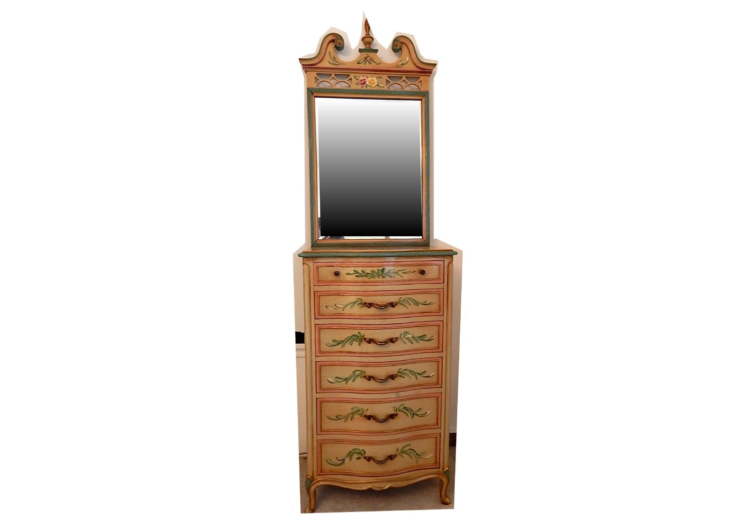 Drexel Shabby Chic Chest of Drawers and Mirror