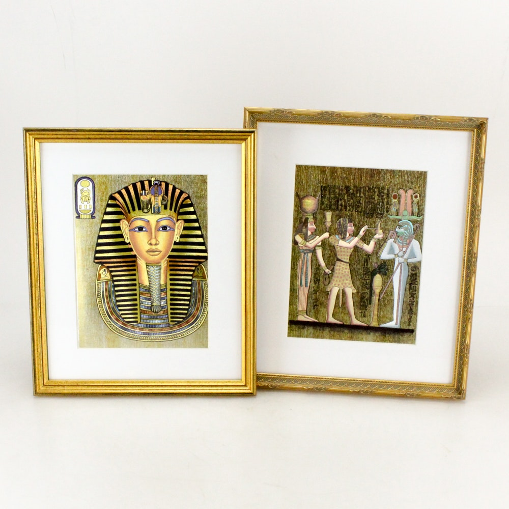 Dufex Reproduction Prints on Embossed Foil Featuring King Tut
