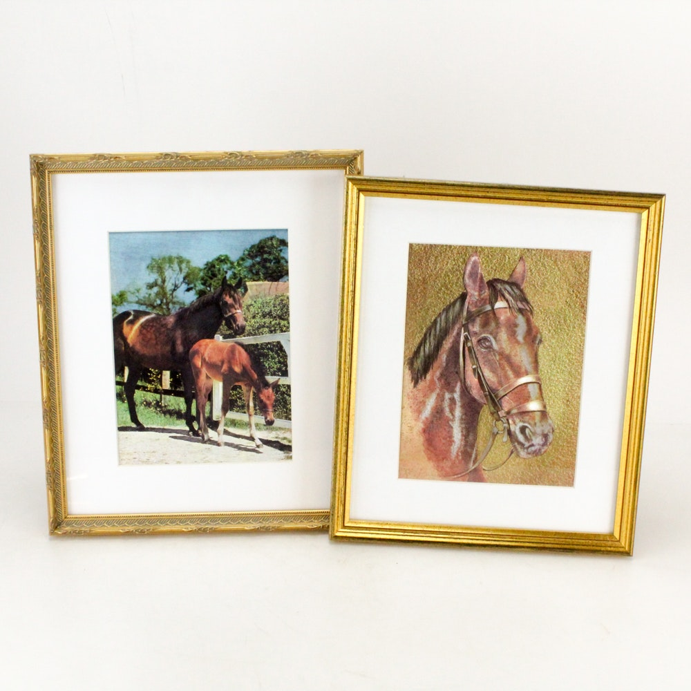 """Dufex Reproduction Prints of Horses on Embossed Foil """"Equus"""""""