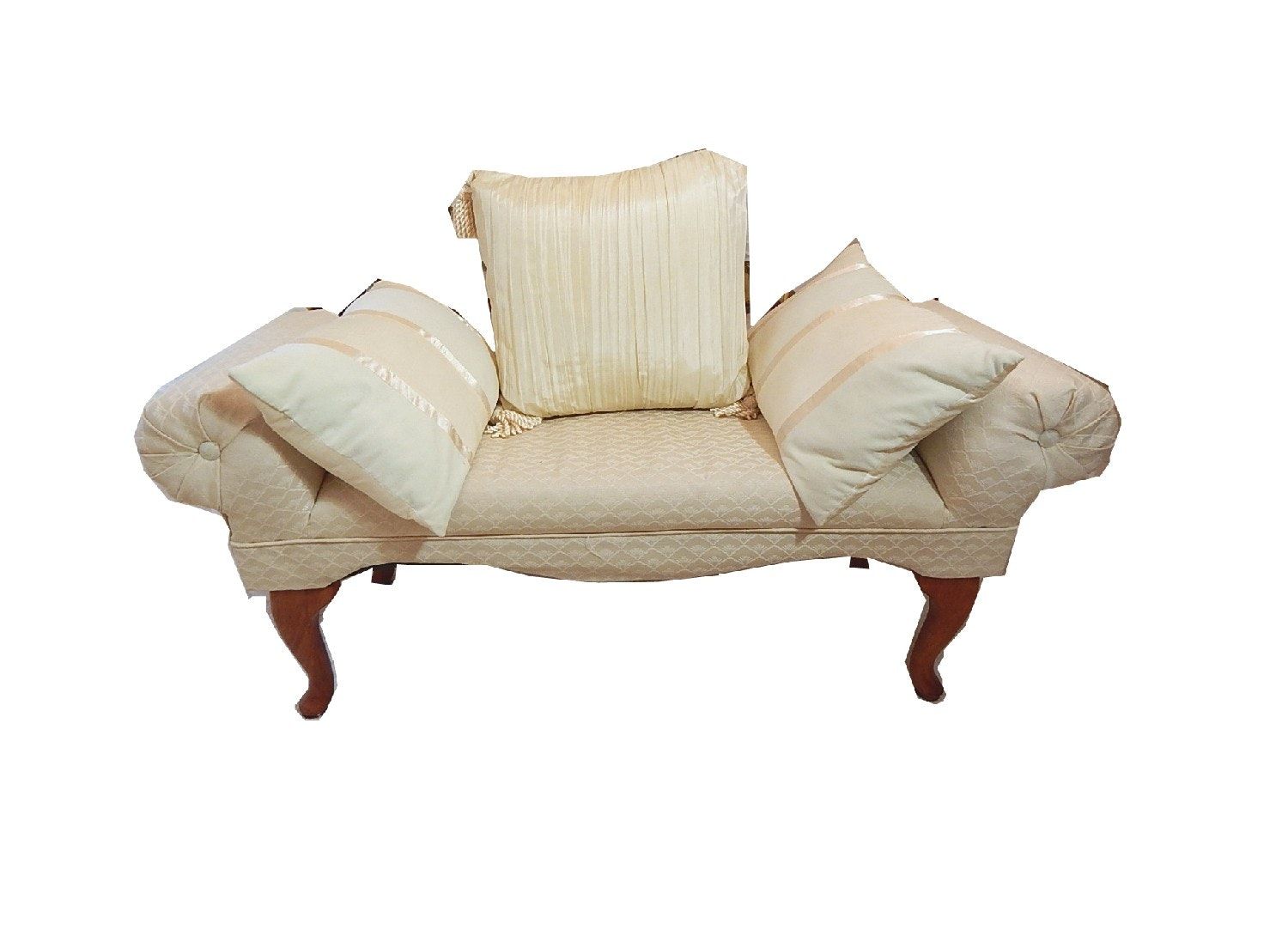 Rose Hill Co. Upholstered Bench with Pillows
