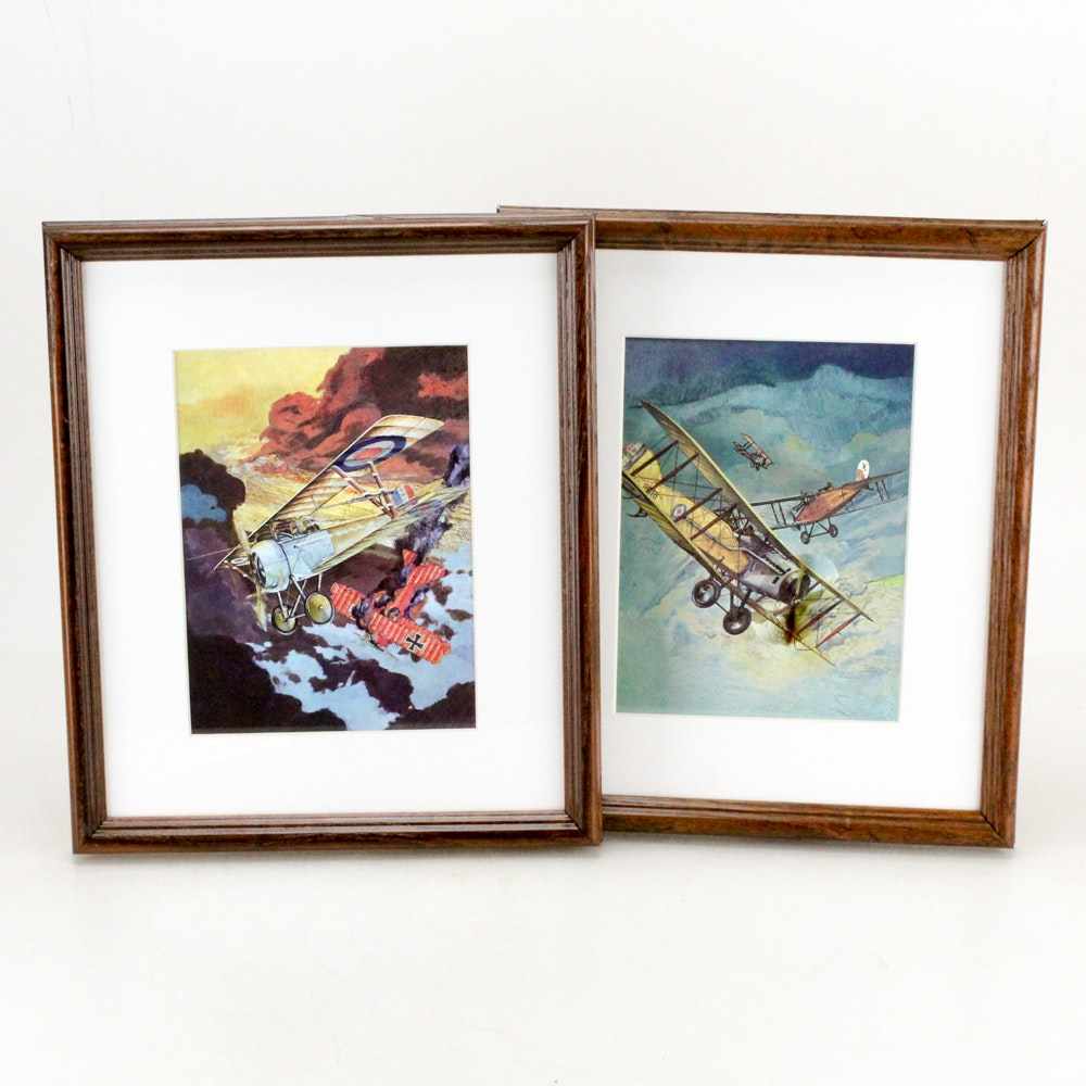 """Dufex Reproduction Prints on Embossed Foil Featuring """"Red Baron"""""""
