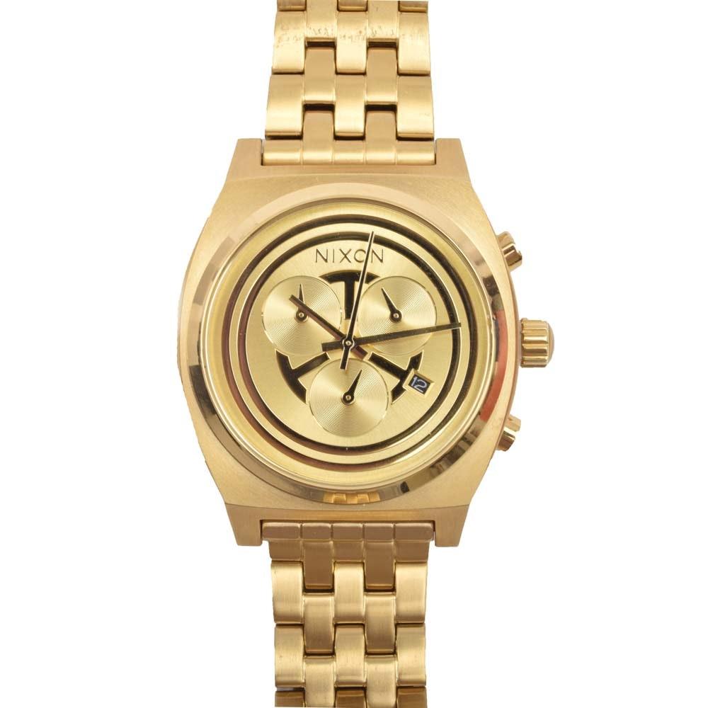 Star Wars c-3po Gold Tone Time Teller Chronograph Wristwatch