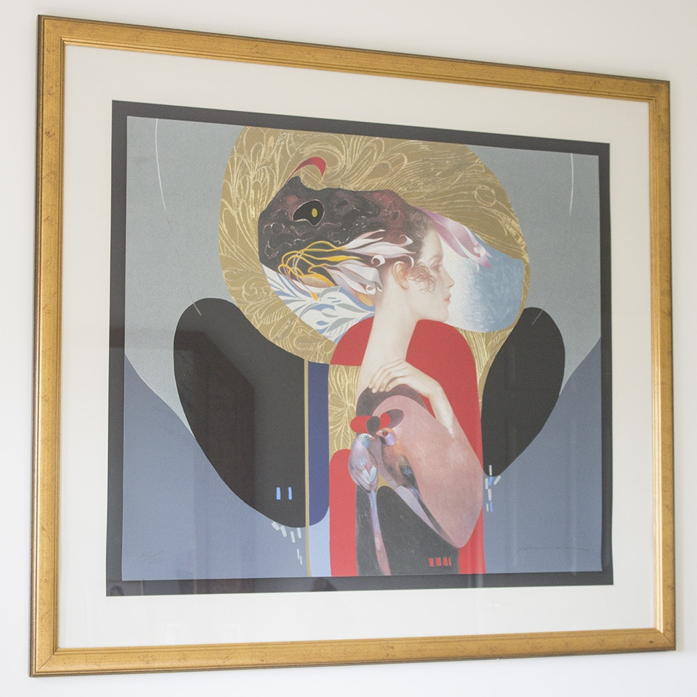 "Felix Mas Limited Edition Serigraph on Paper ""The Lady"""