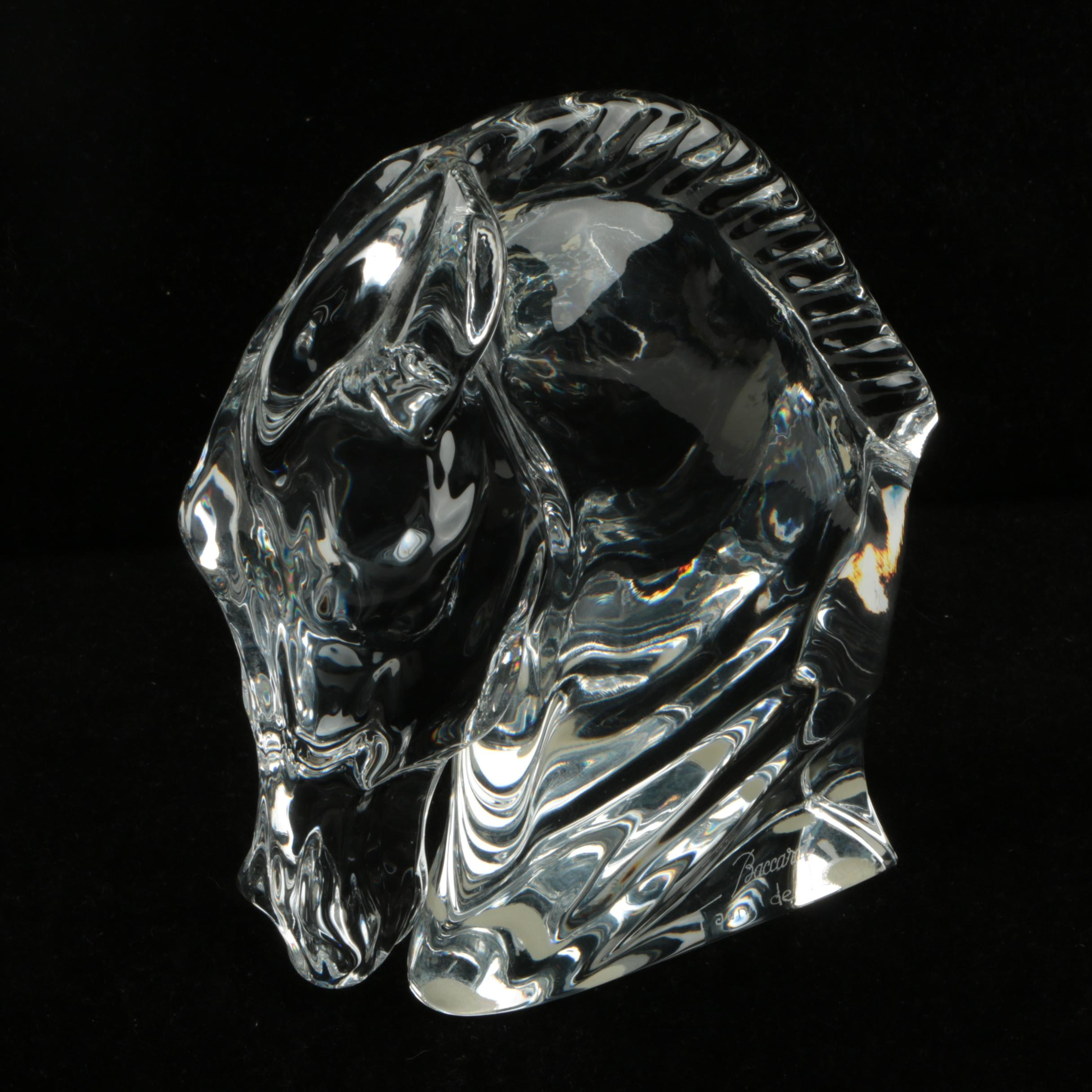 Tauni de Lesseps for Baccarat Crystal Horse Head