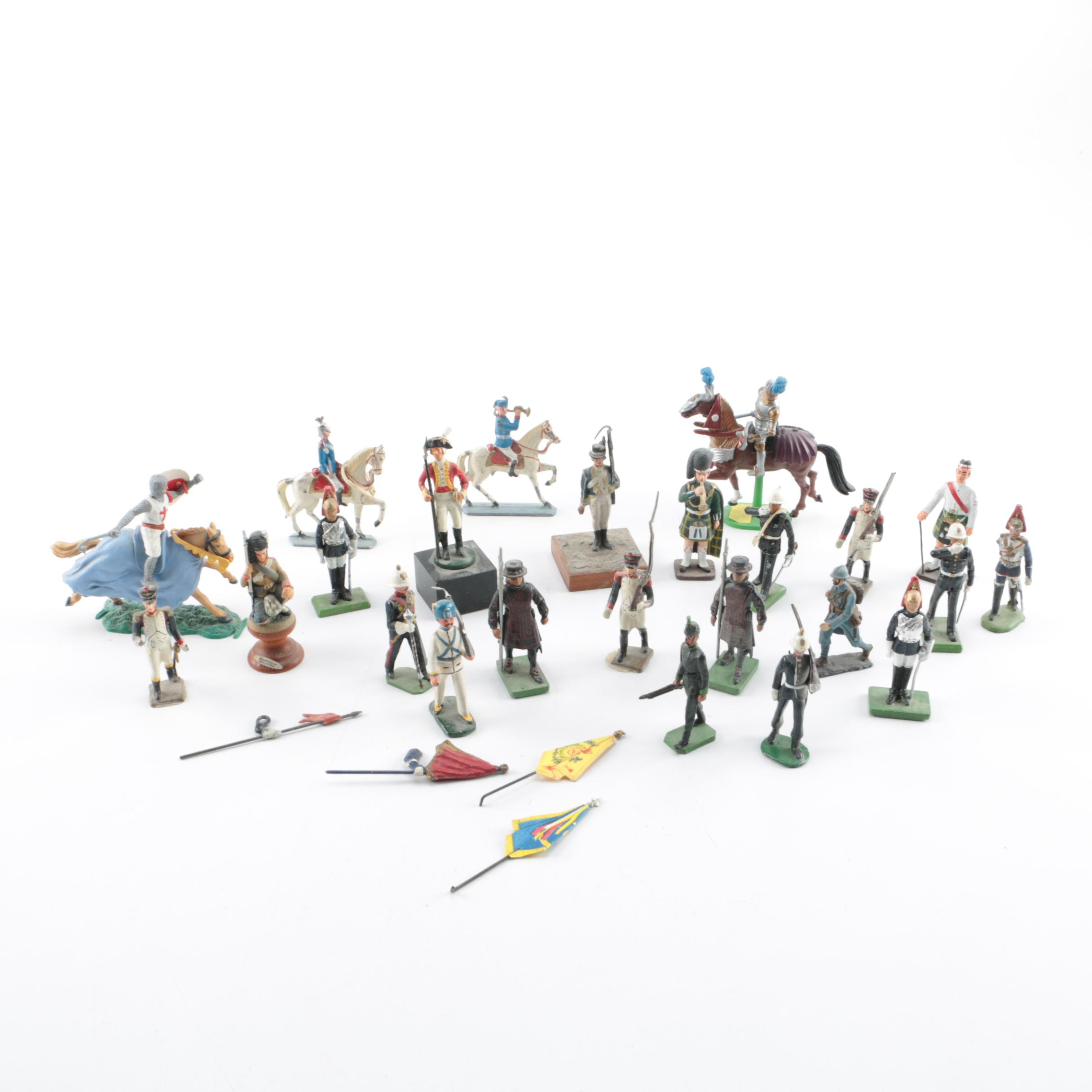 Assorted Metal and Plastic Toy Soldiers
