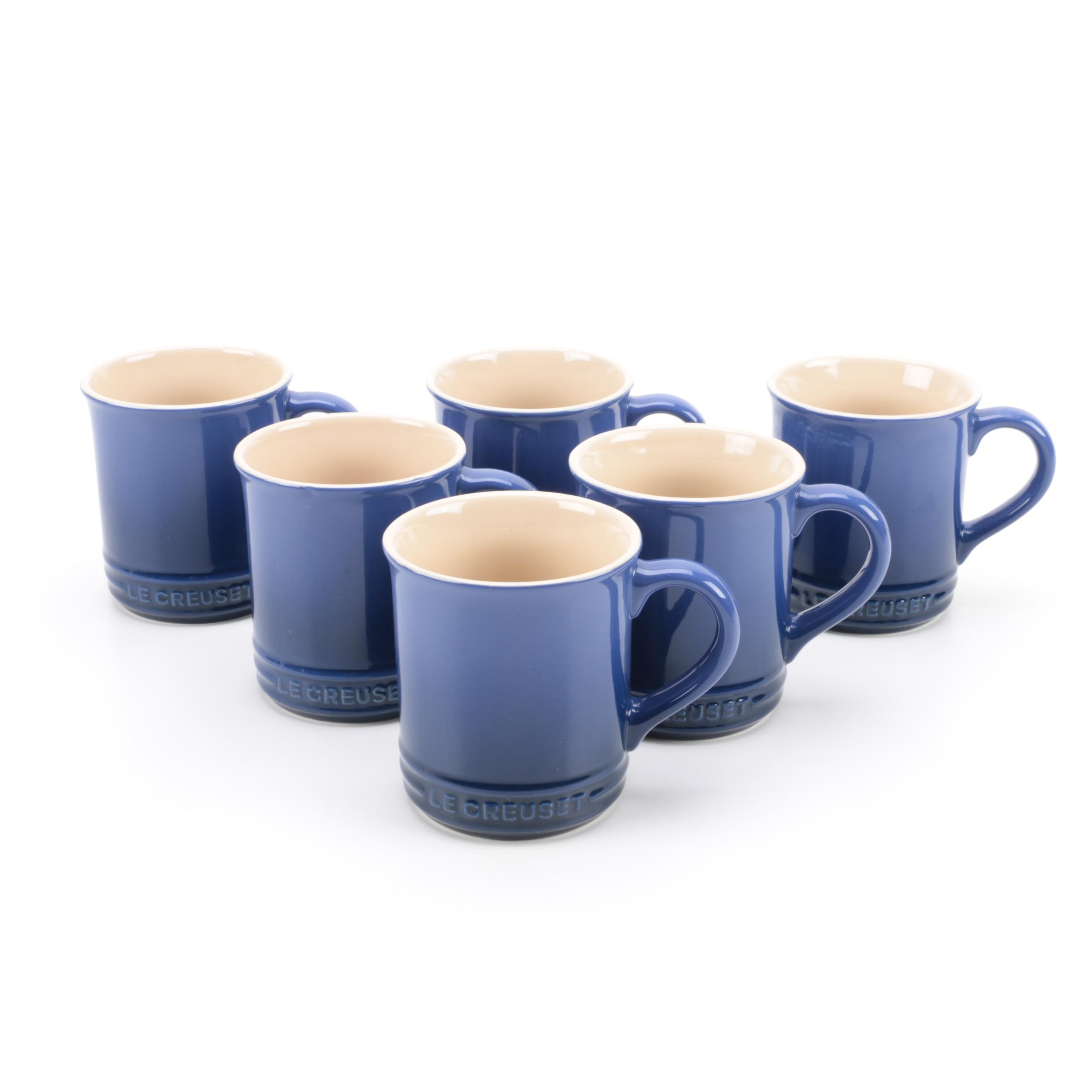 "Le Creuset ""Marseille"" Coffee Mugs"