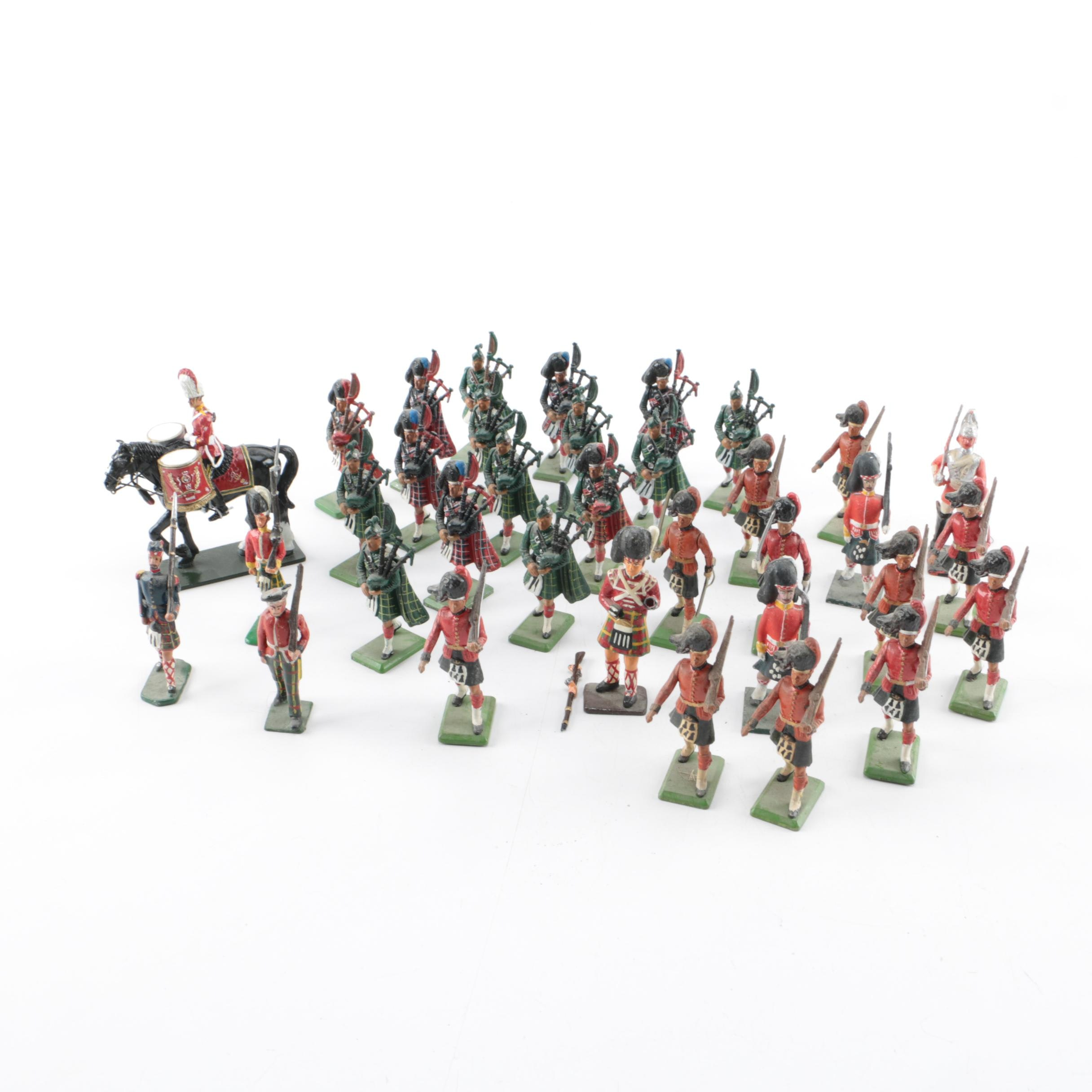 Collection of Metal Toy British Soldiers