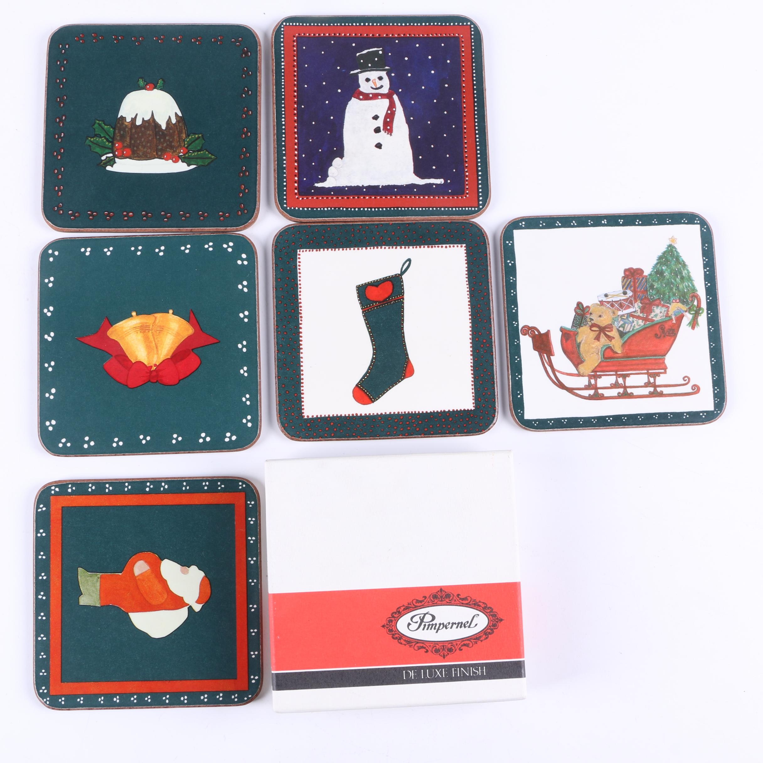 Pimpernel Holiday Coasters