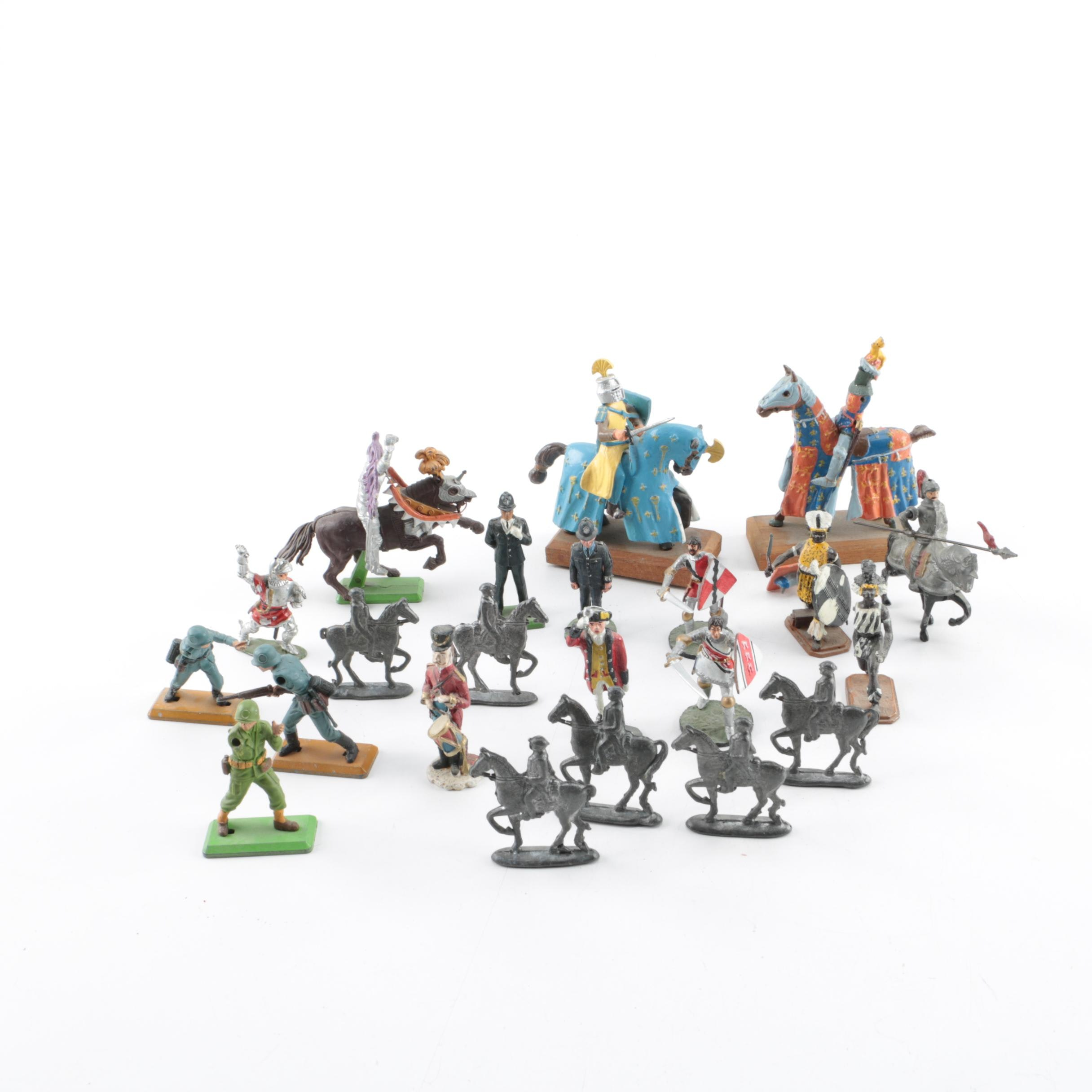 Assorted Metal and Plastic Toy Figurines