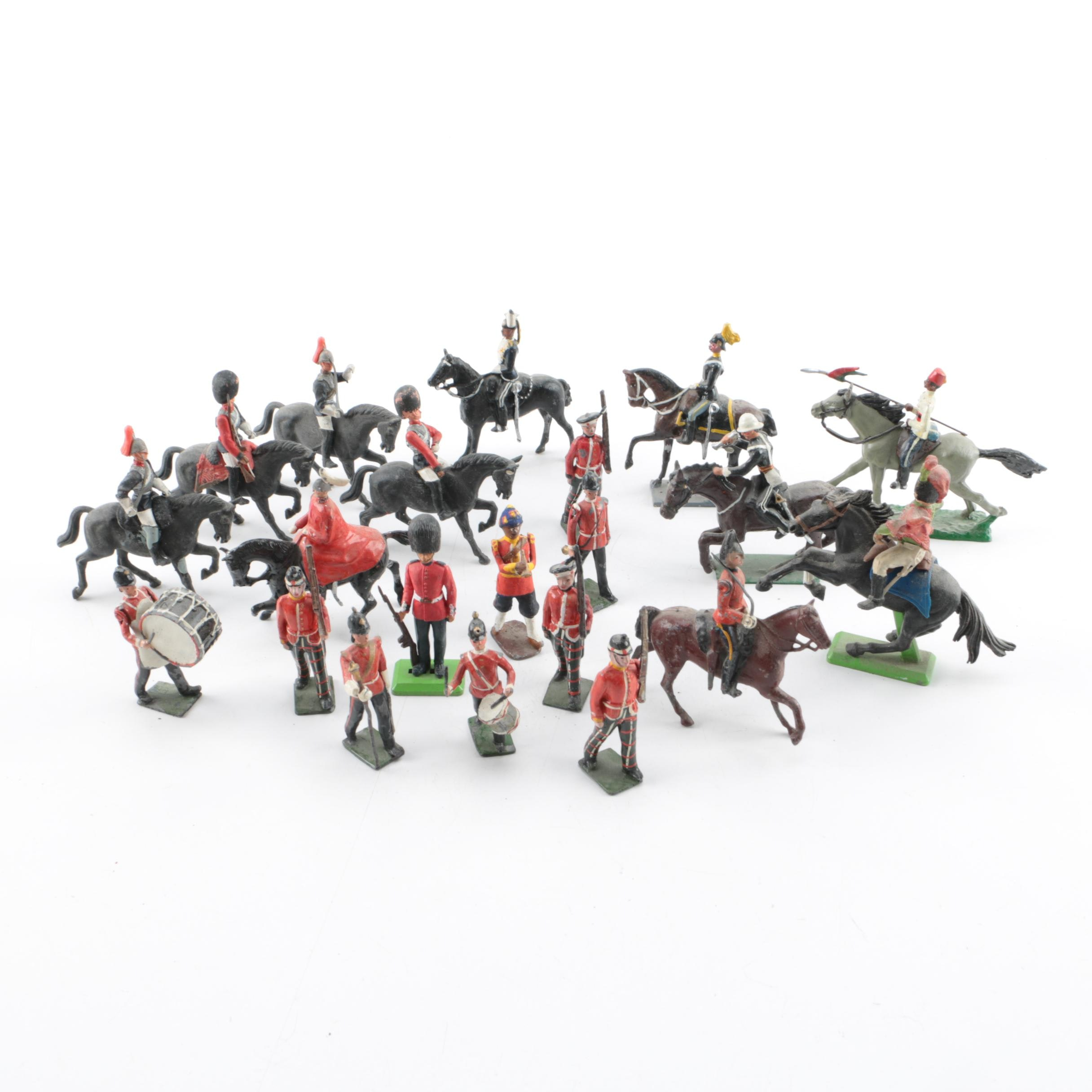 Collection of Metal and Plastic British Toy Soldiers