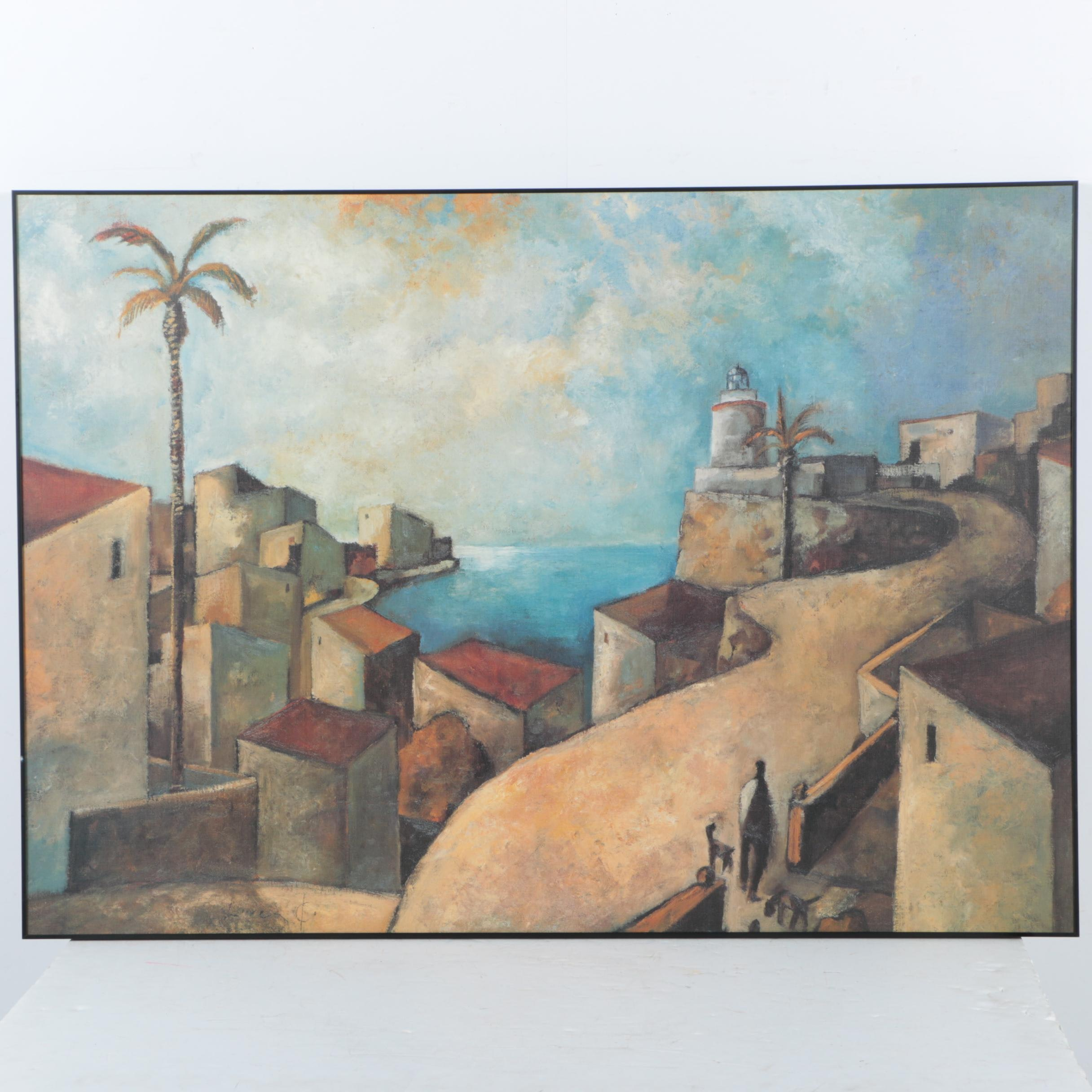 "Giclee Print on Canvas After Didier Lourenco ""Camino del Faro"""