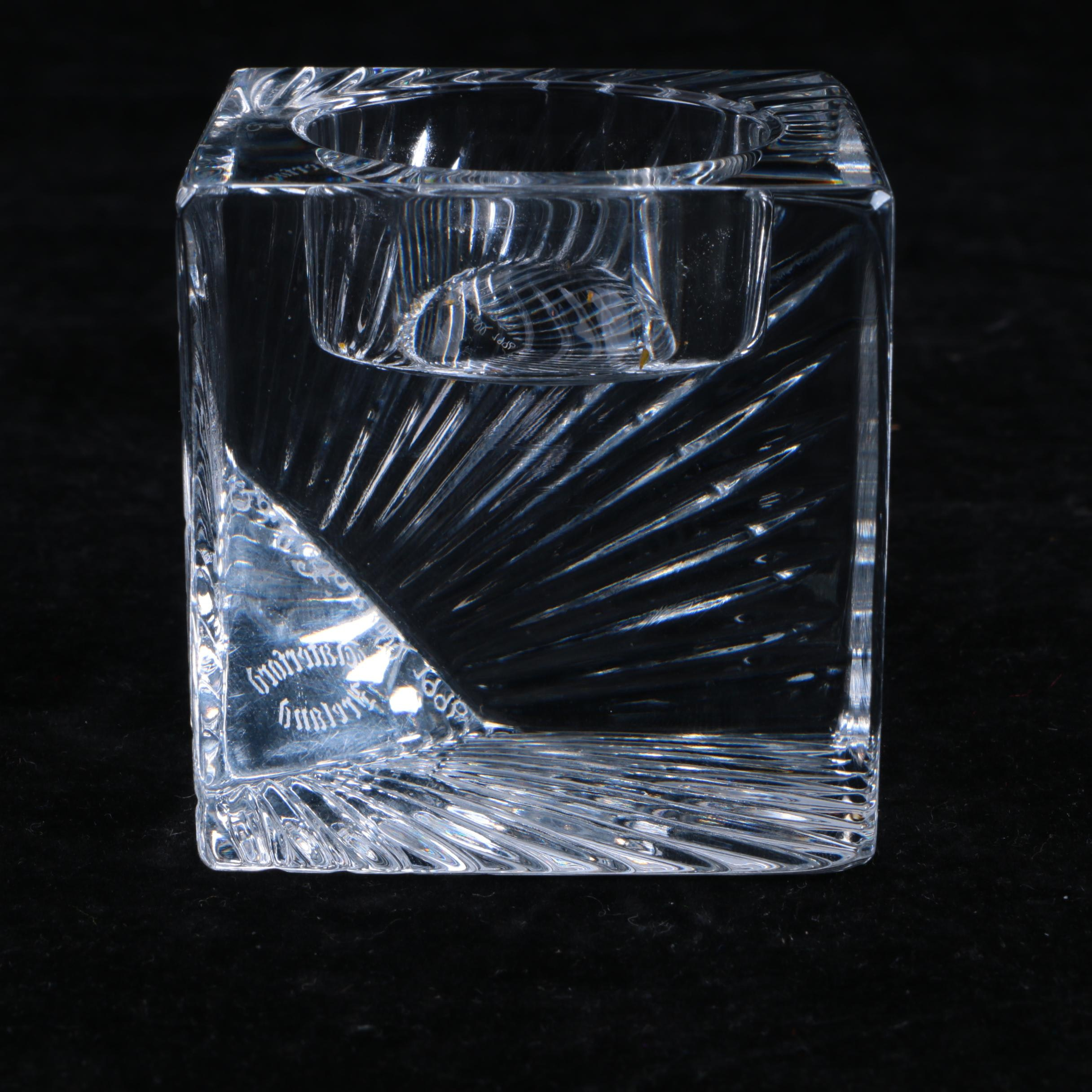 "Waterford Crystal ""Meridian"" Clock Signed by the Artist"