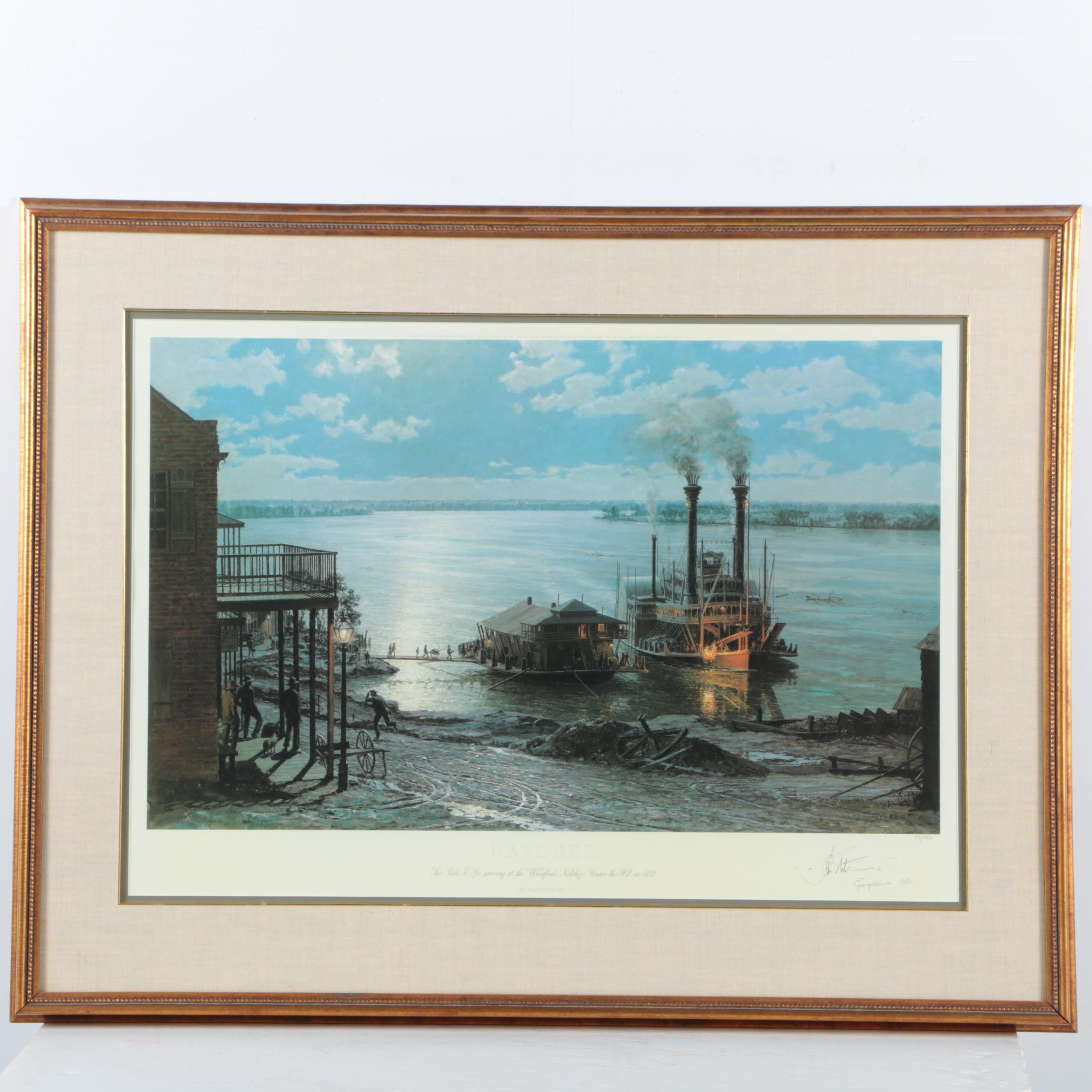 "John Stobart Limited Edition Offset Lithograph ""Natchez"""