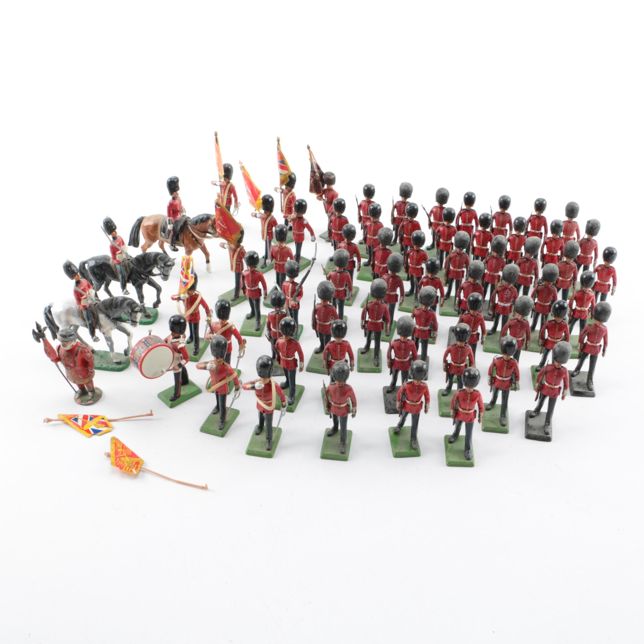 Collection of Metal Toy Buckingham Palace Guard Figures