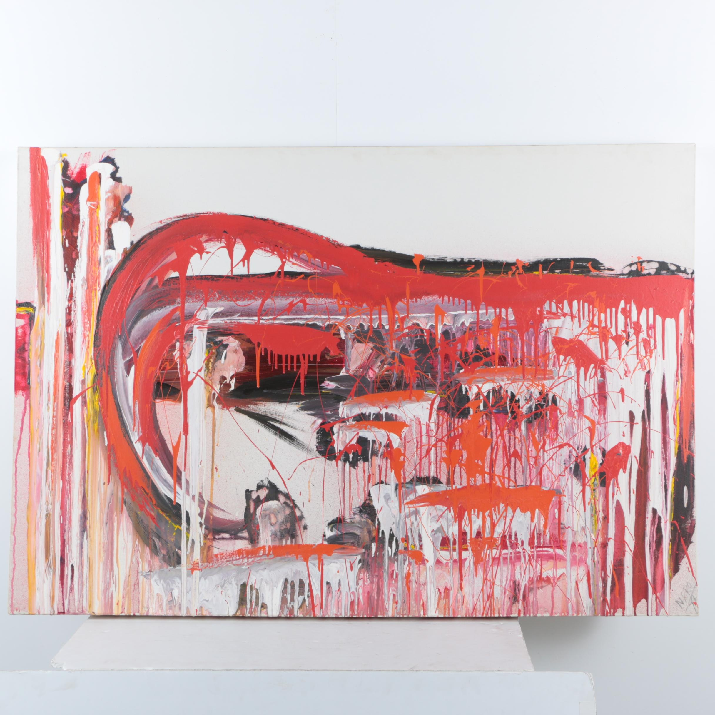 Nero Abstract Acrylic Painting on Canvas