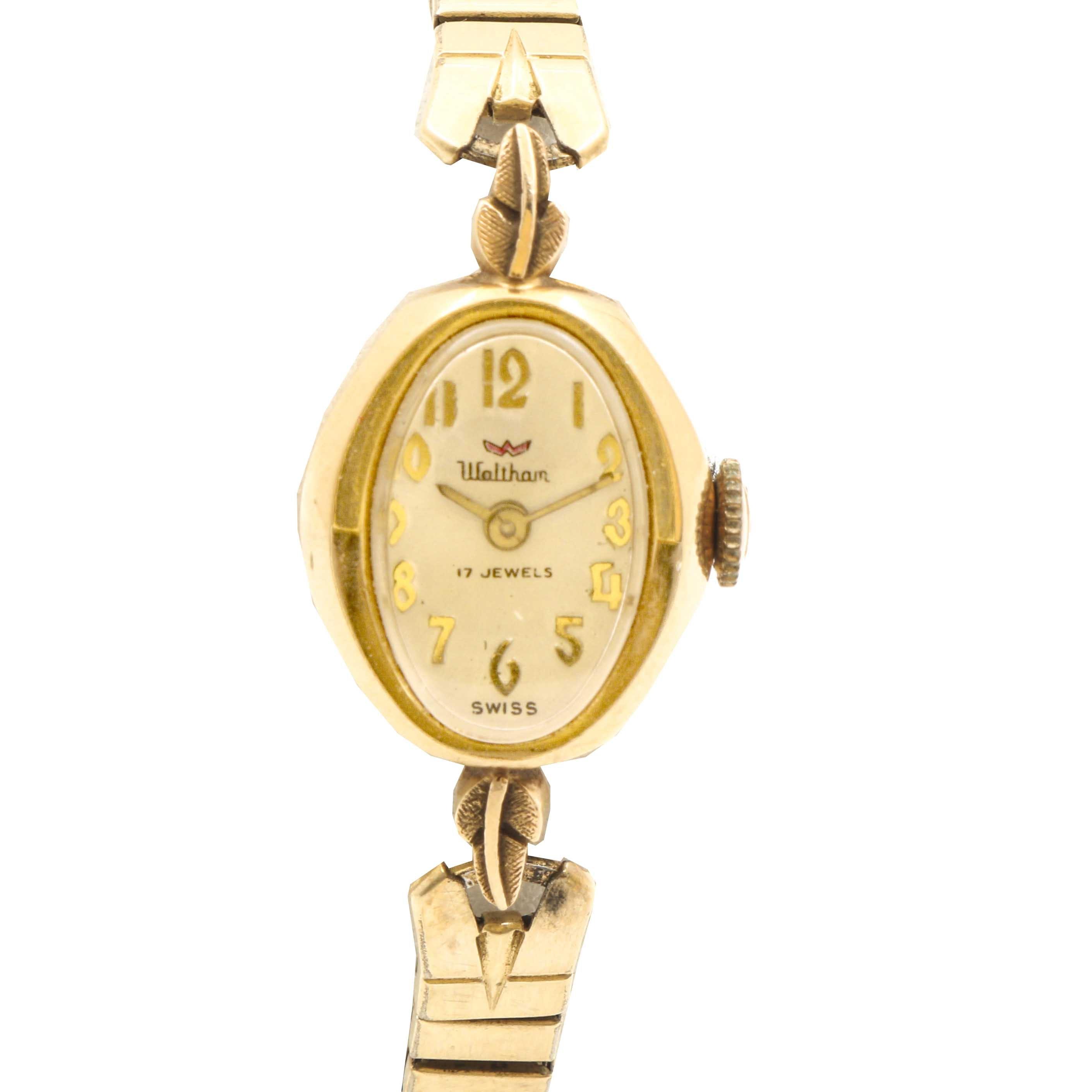 Waltham 14K Yellow Gold Wristwatch