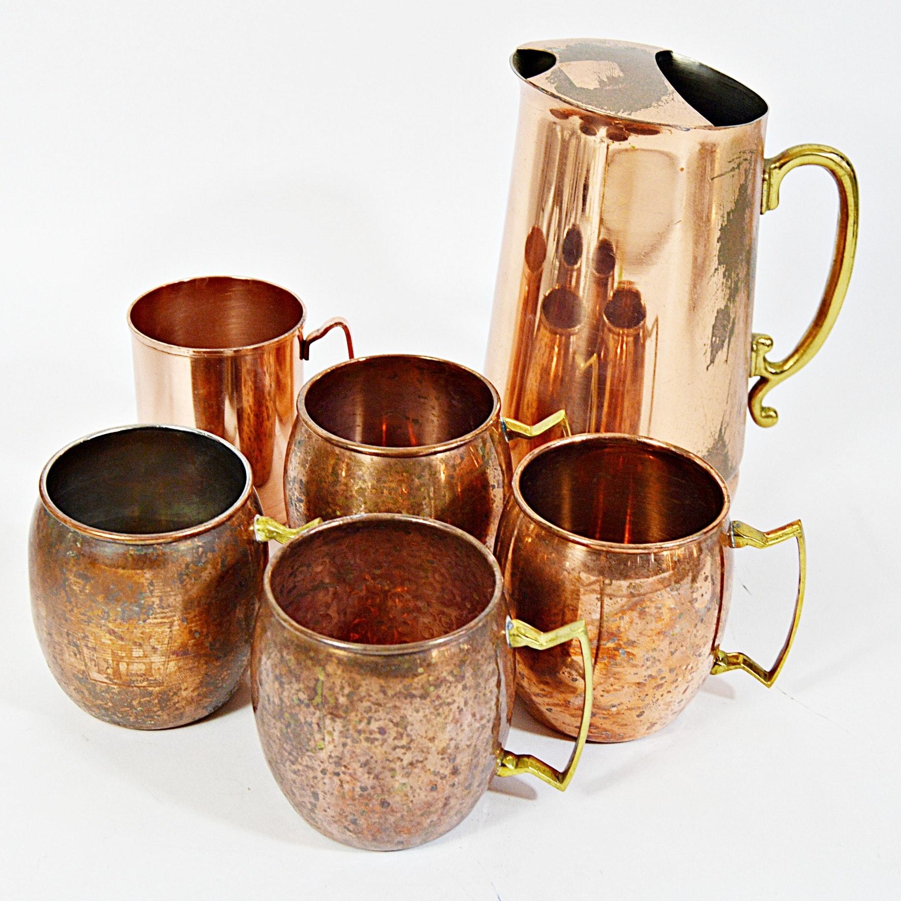 Vintage Copper Barware