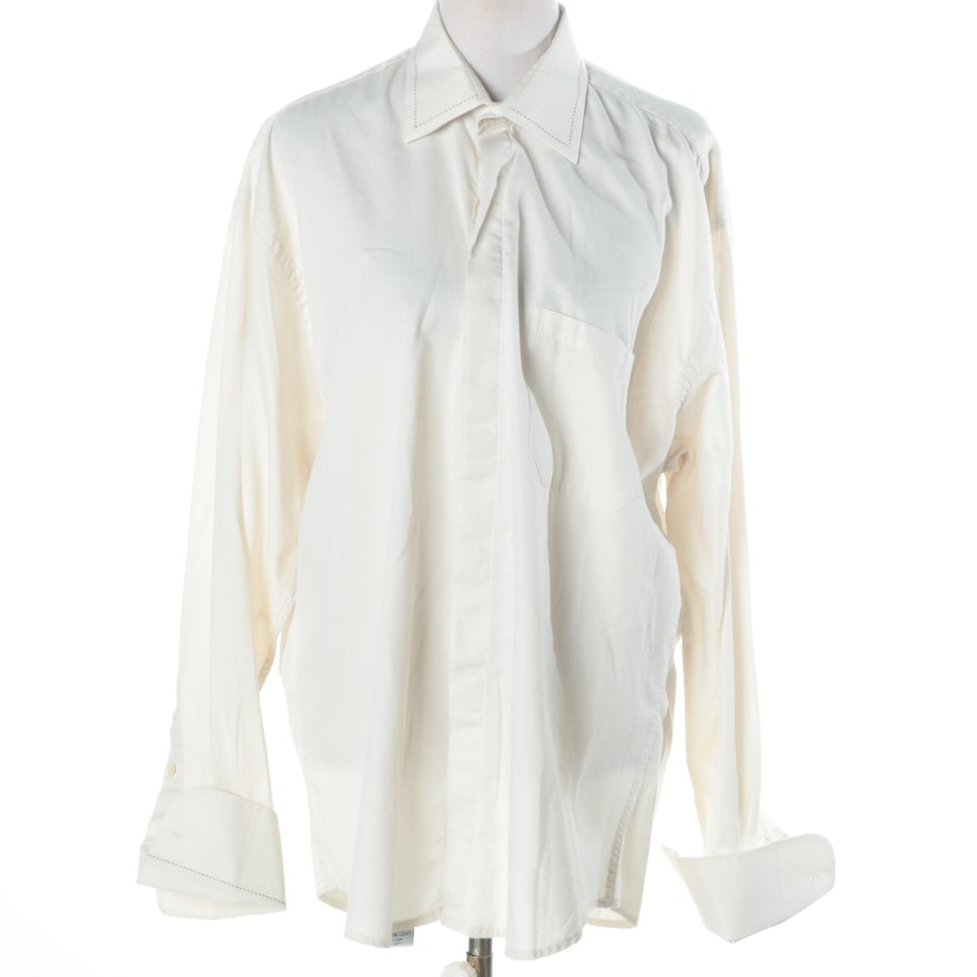 Assante french cuff dress shirt ebth for Dress shirt french cuffs