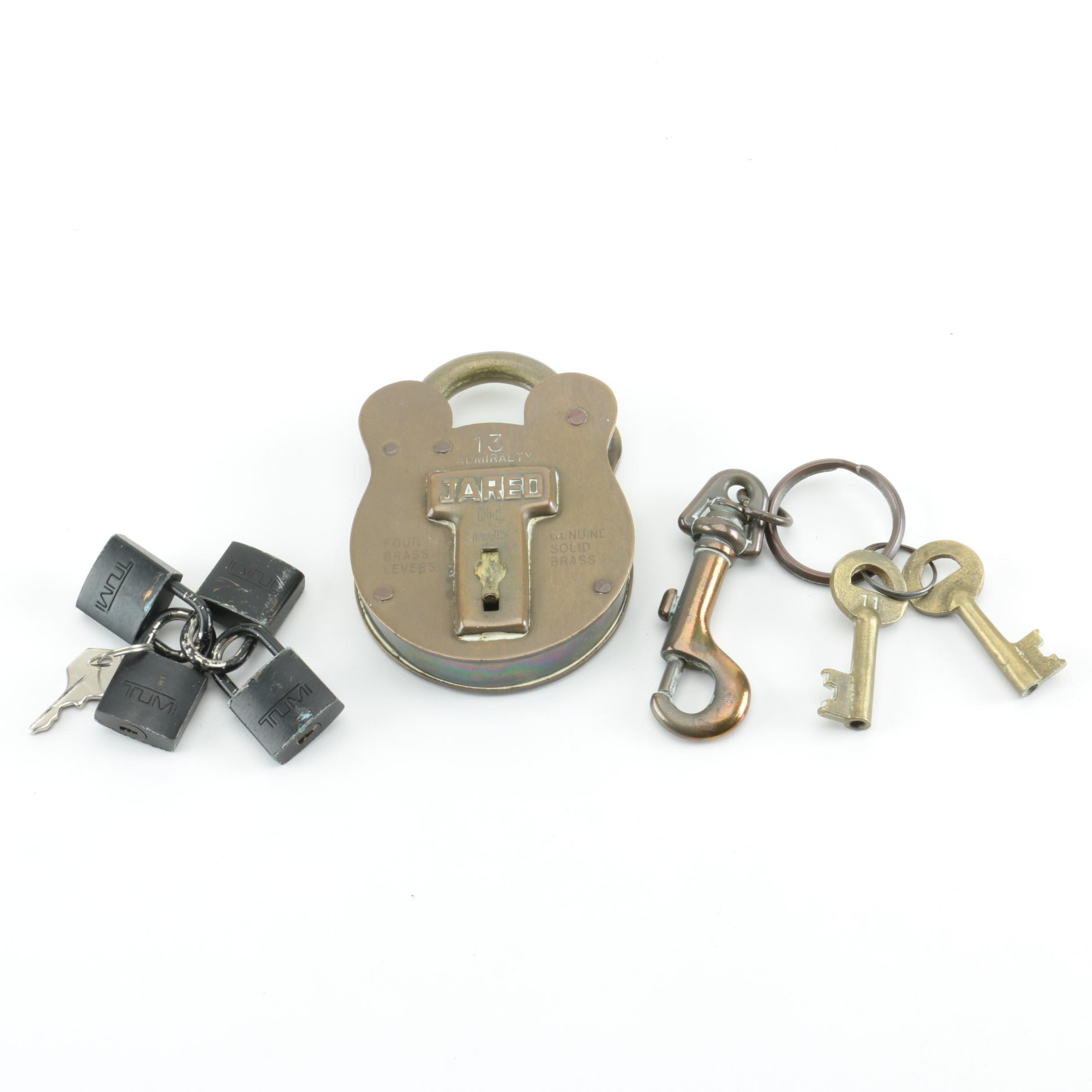 Padlocks Including Jas. Morgan & Sons Ltd and Tumi