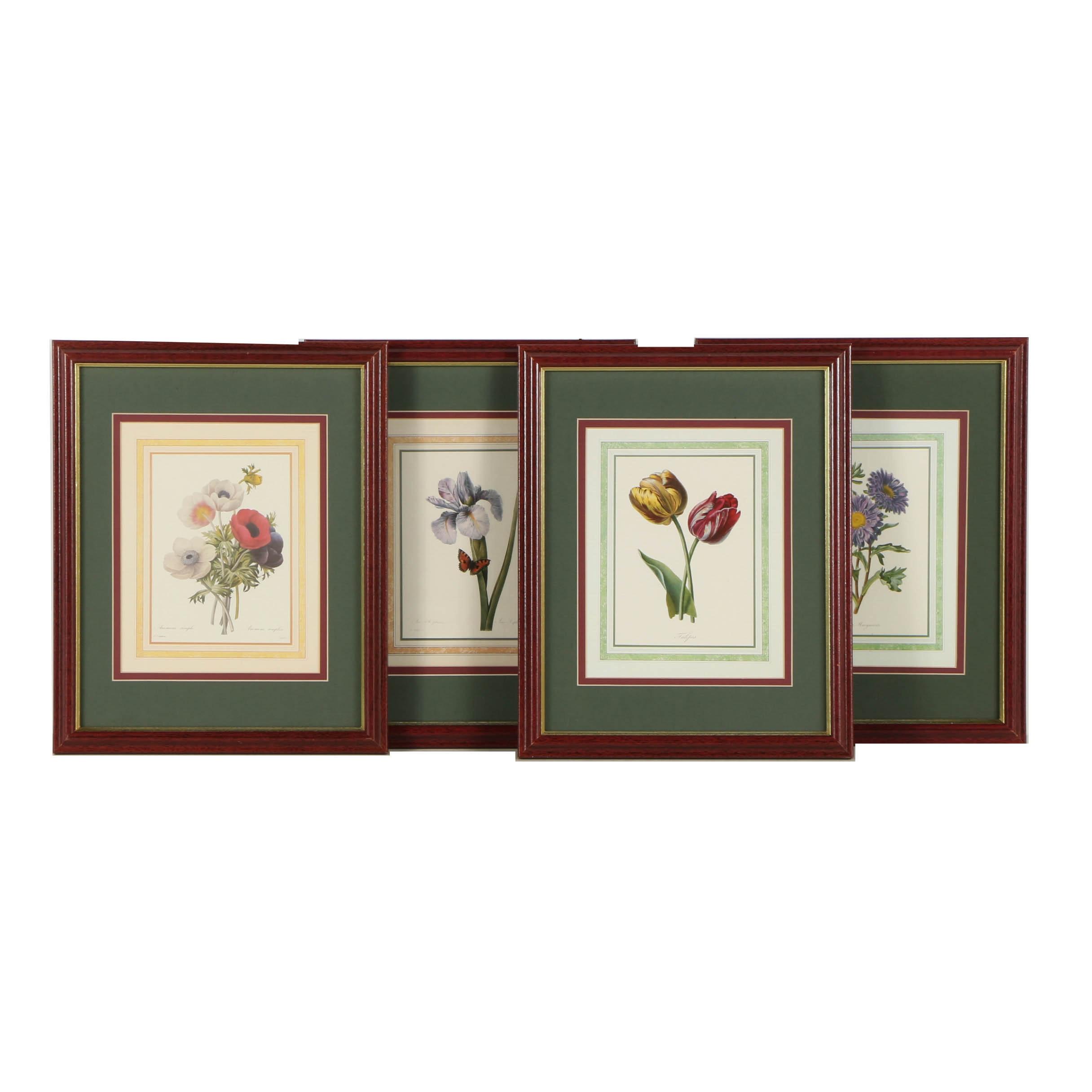 Offset Lithographs of Botanical Illustrations After Pierre-Joseph Redouté