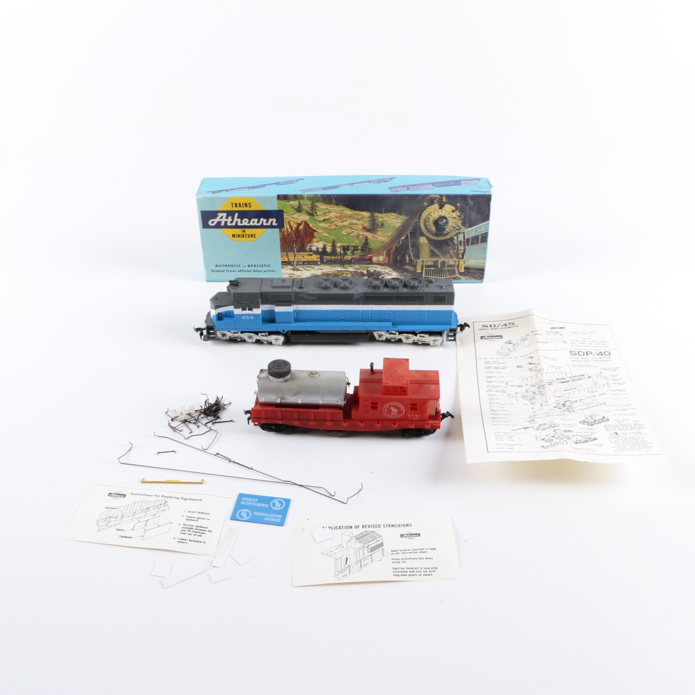 "Athearn ""Blue Box"" Diesel Engine and Tank Car"