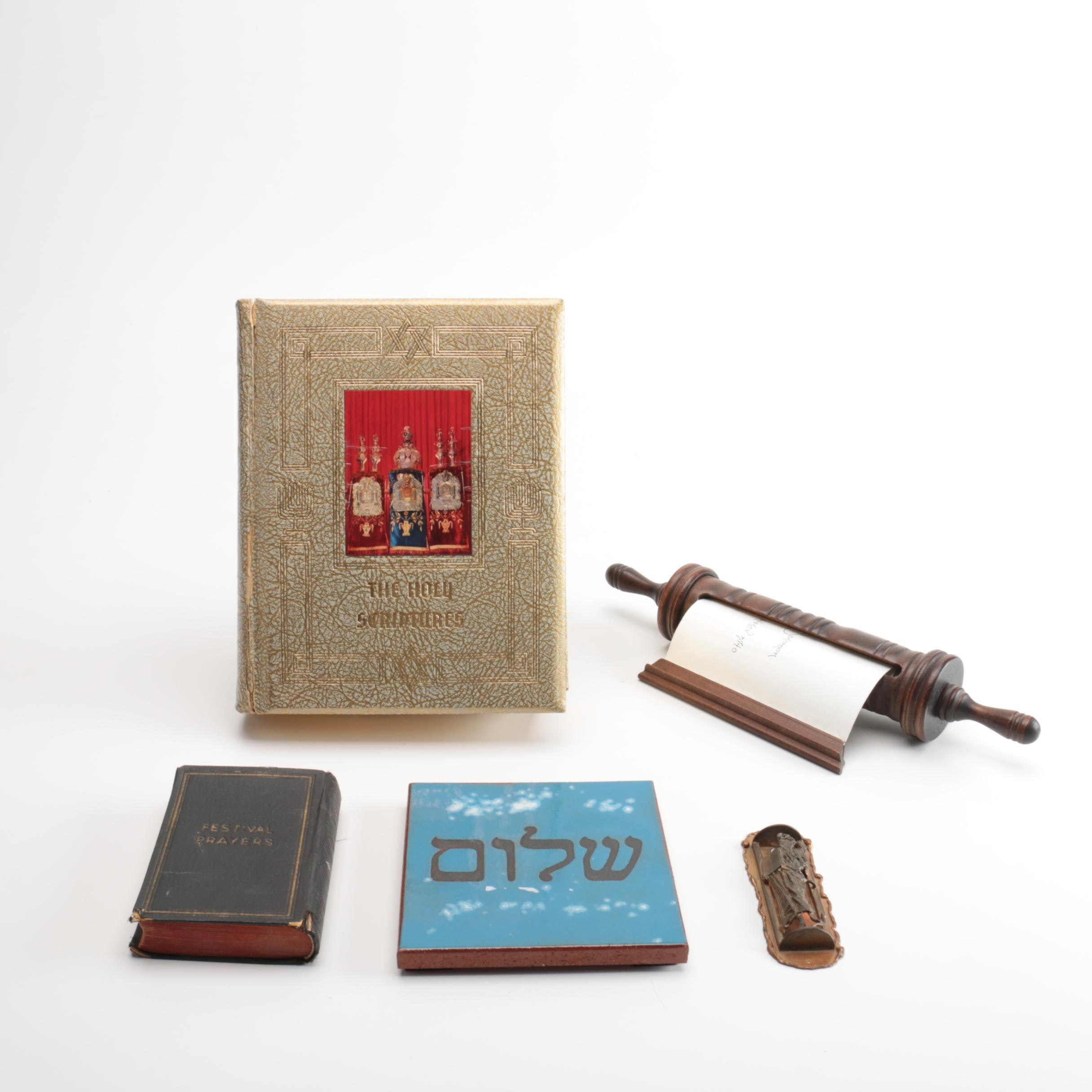 """The Holy Scriptures"",  1930 ""Festival Prayers"" and Other Judaica"