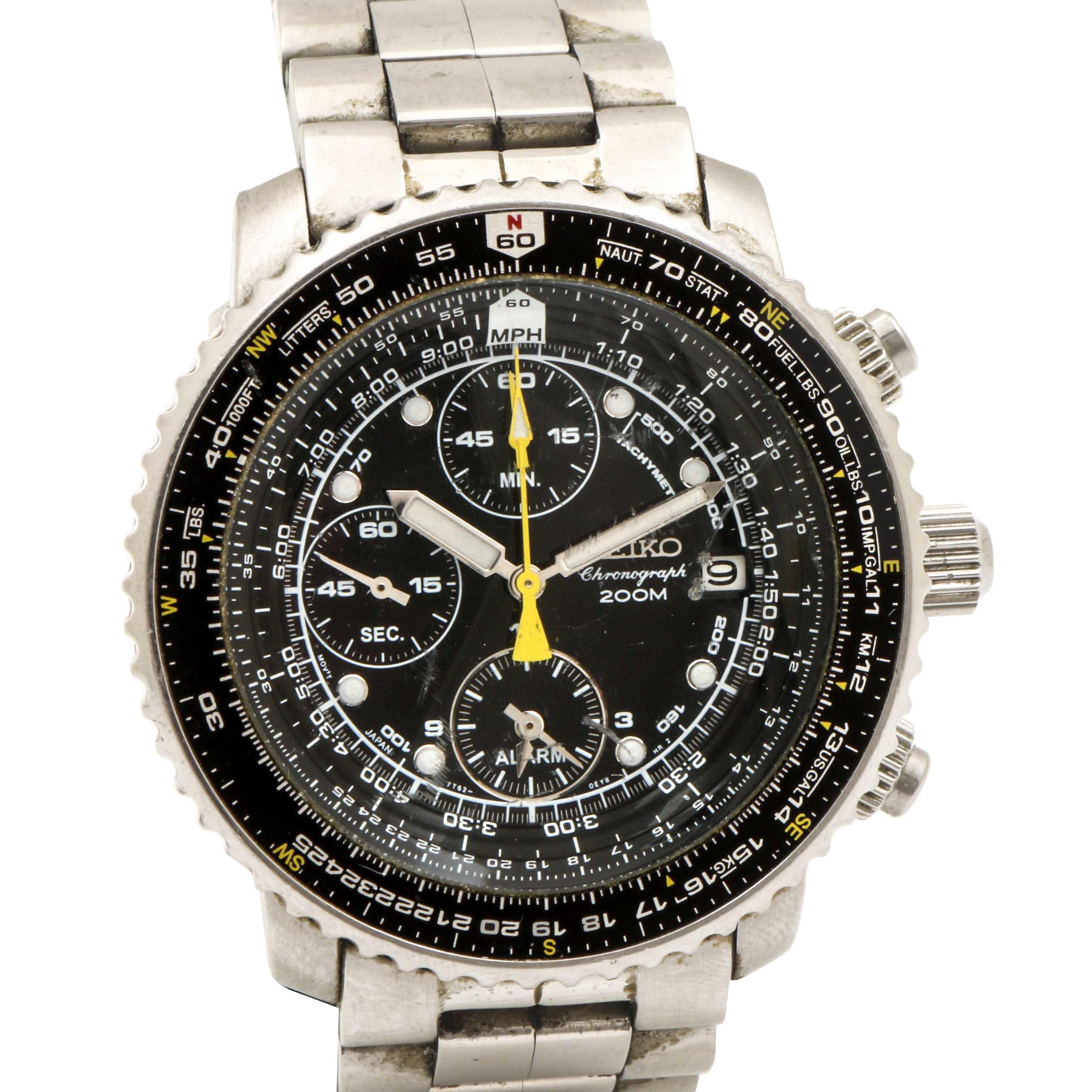Seiko Chronograph Pilot Wristwatch