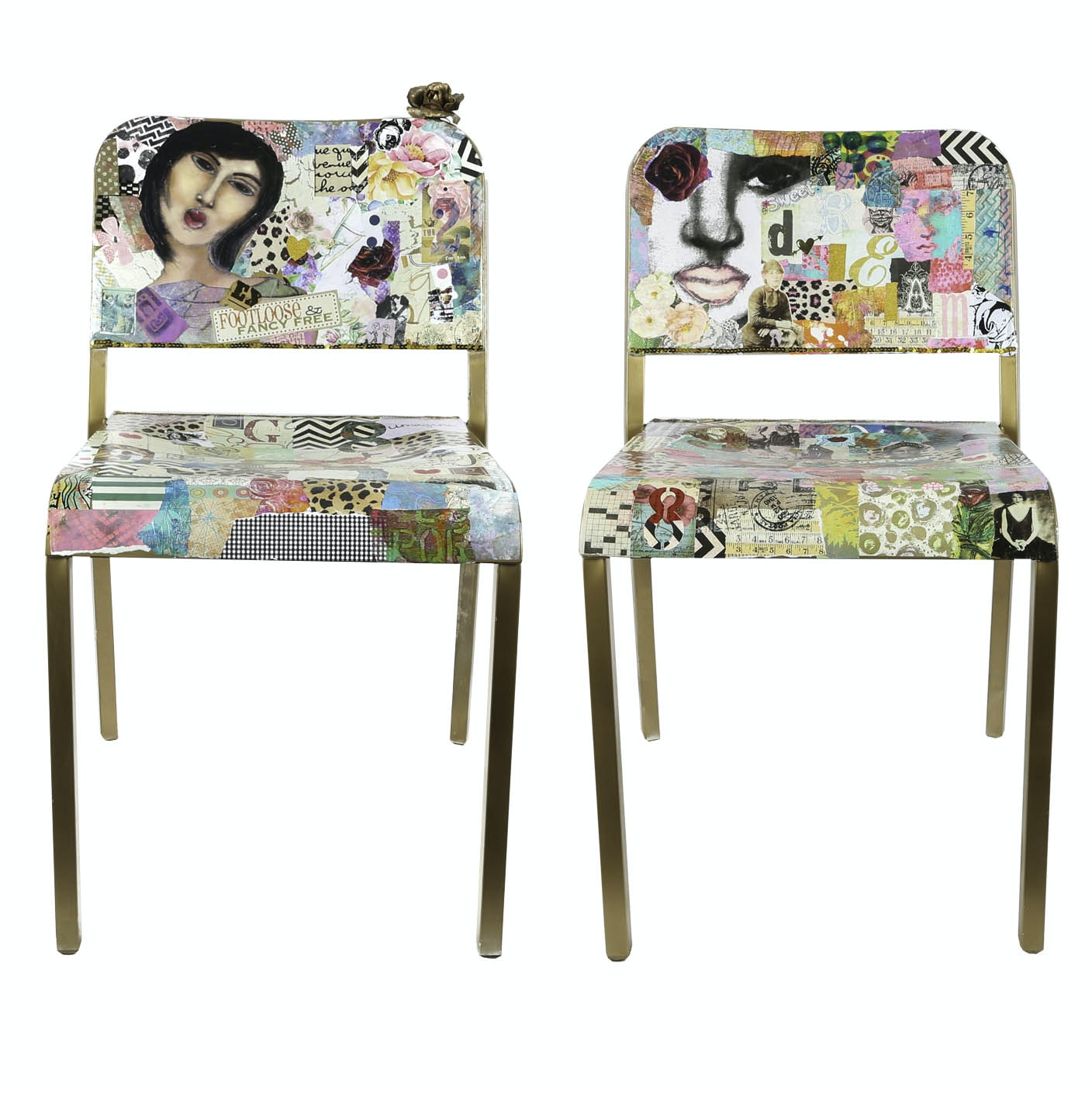 "Kimberly Mixed Media Chairs ""Sit and Think"""
