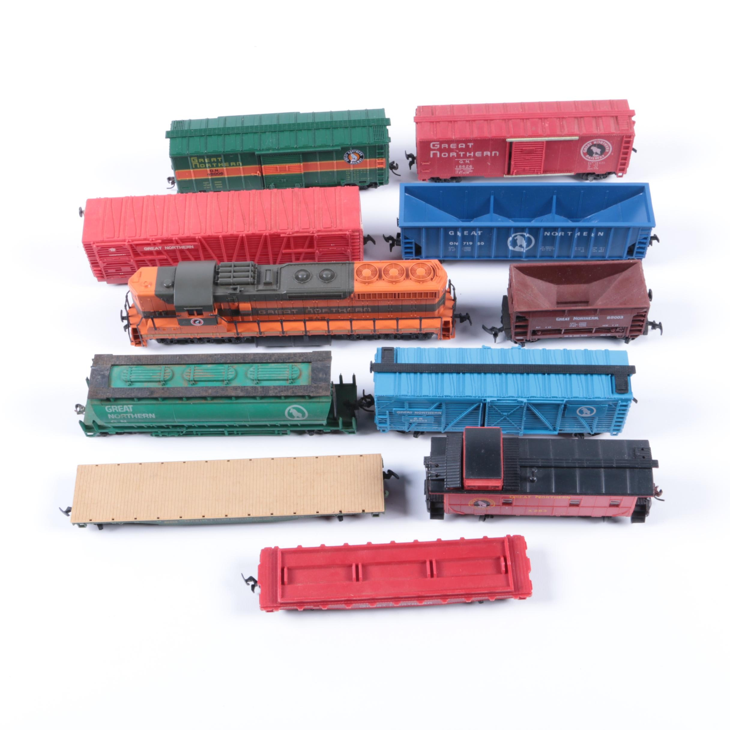 Assorted HO Train Cars Including AHM
