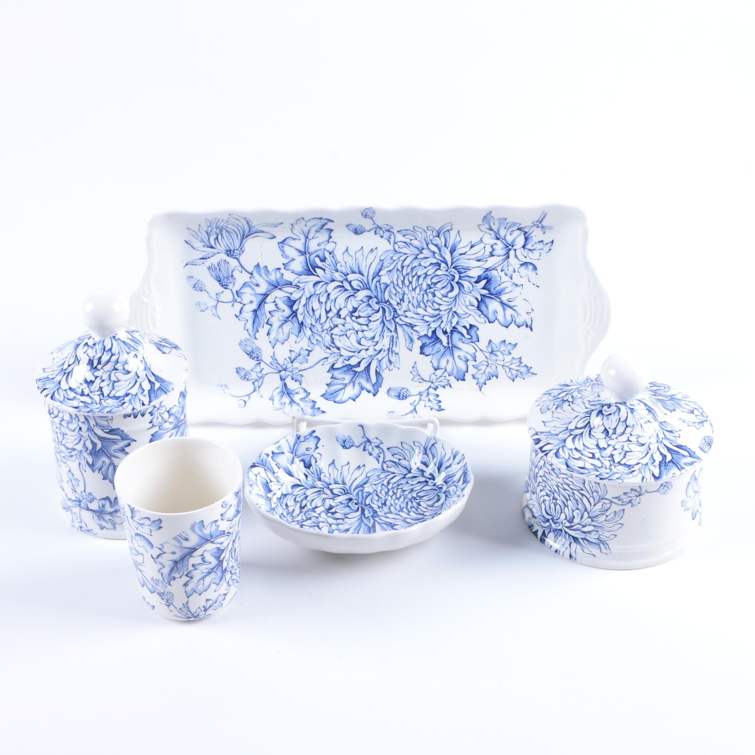 """James Kent """"Chrysanthemum"""" Earthenware Tableware"""