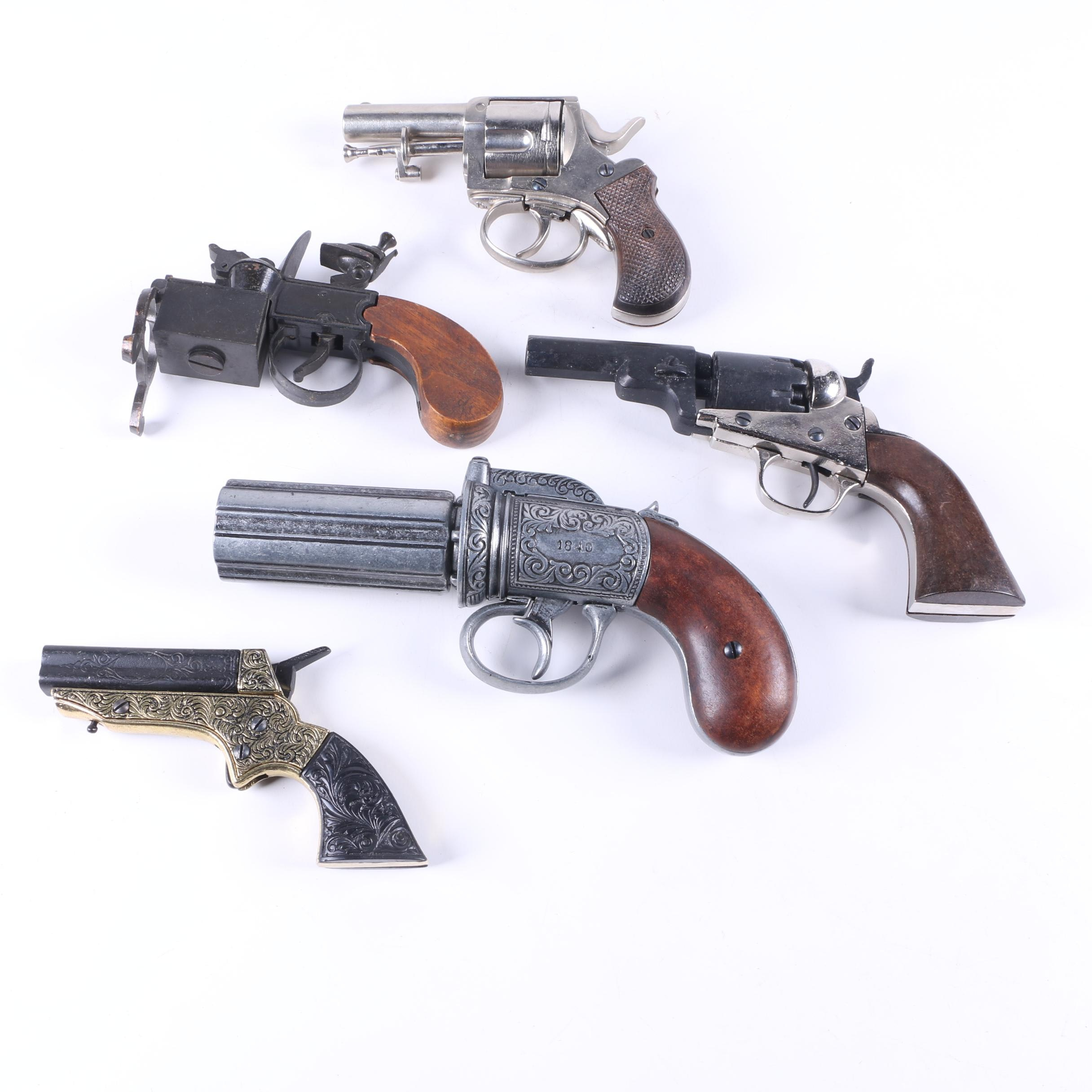 Assorted Metal and Wood Toy Handguns