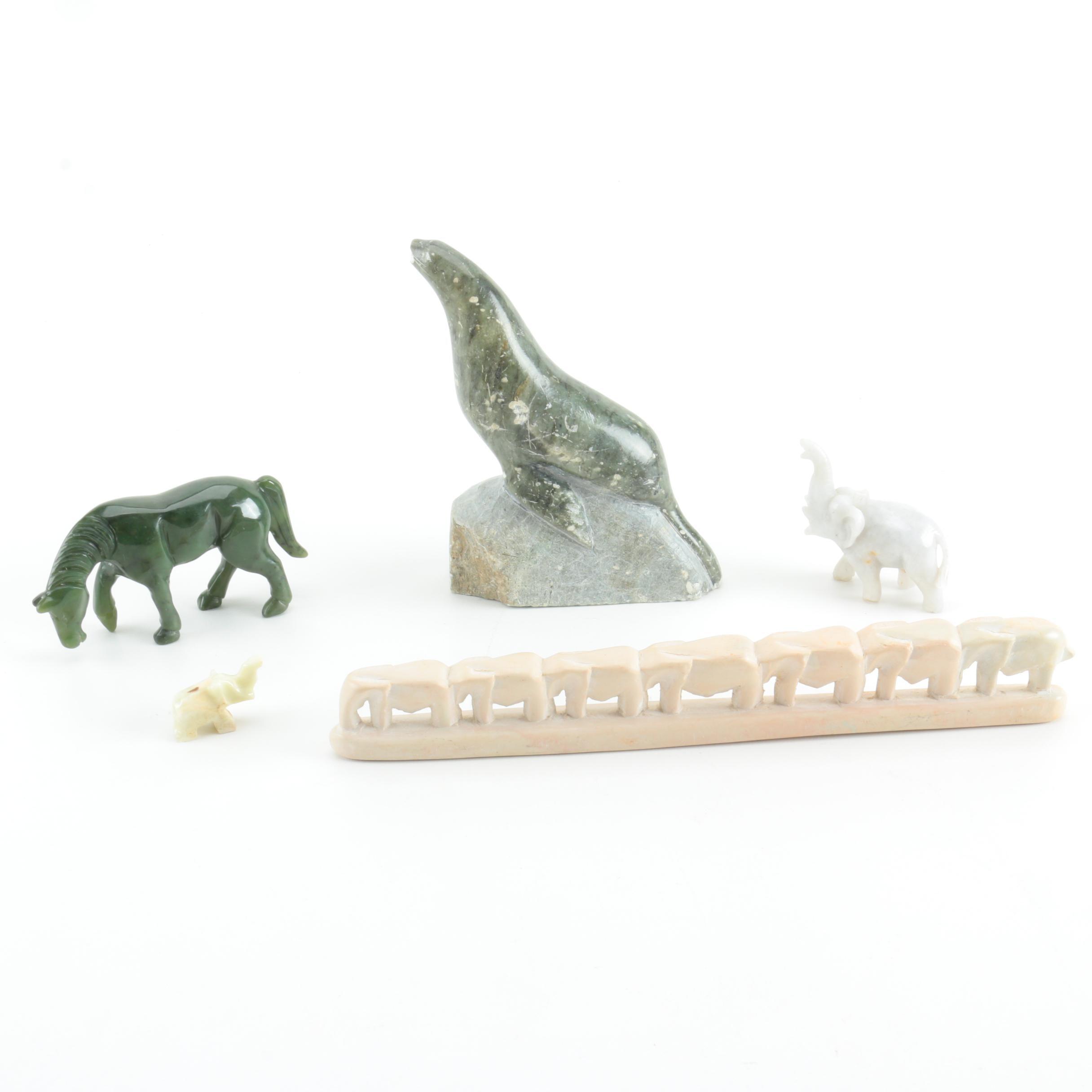Mineral Animal Figurines